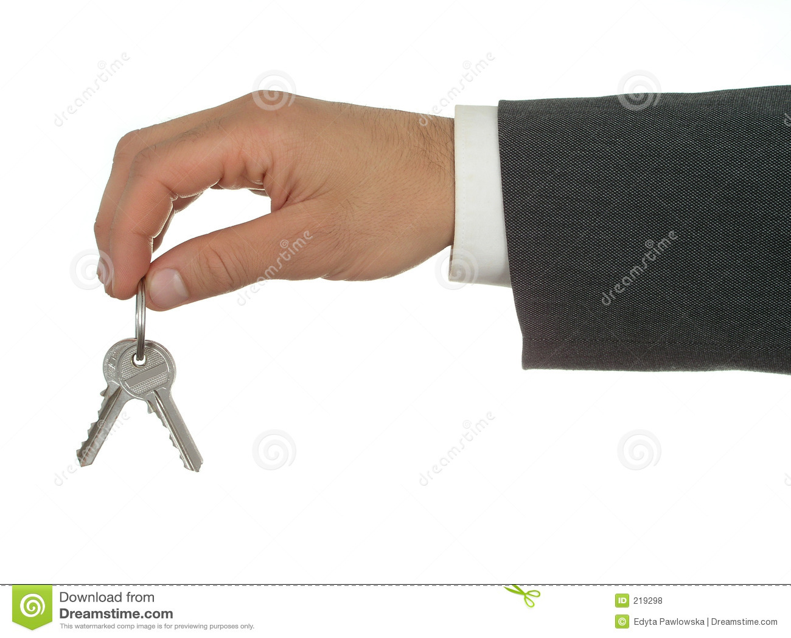 Affärsmanhandholdingen keys s