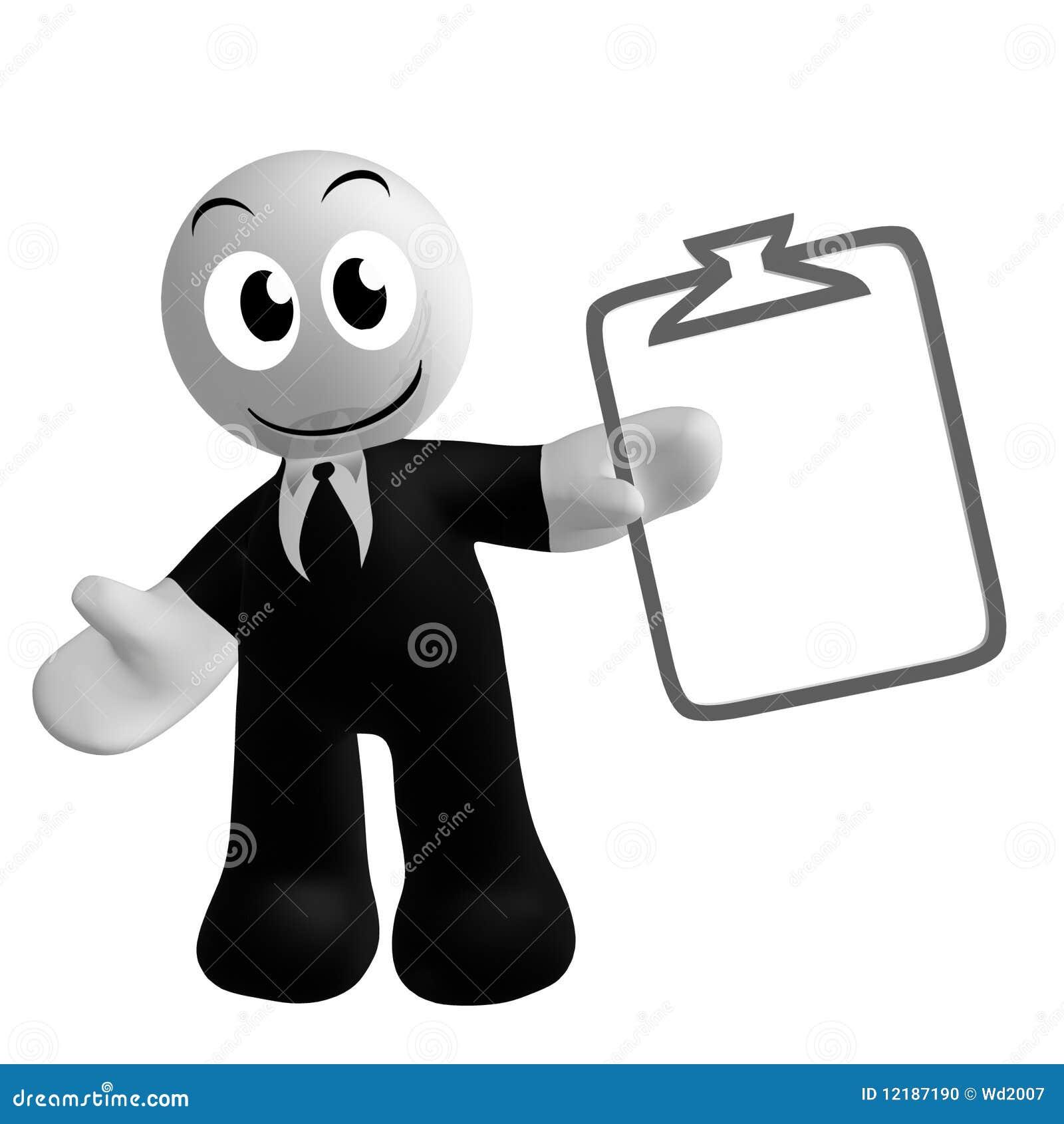 Affärsmansymbol med schemauppgiftssymbol