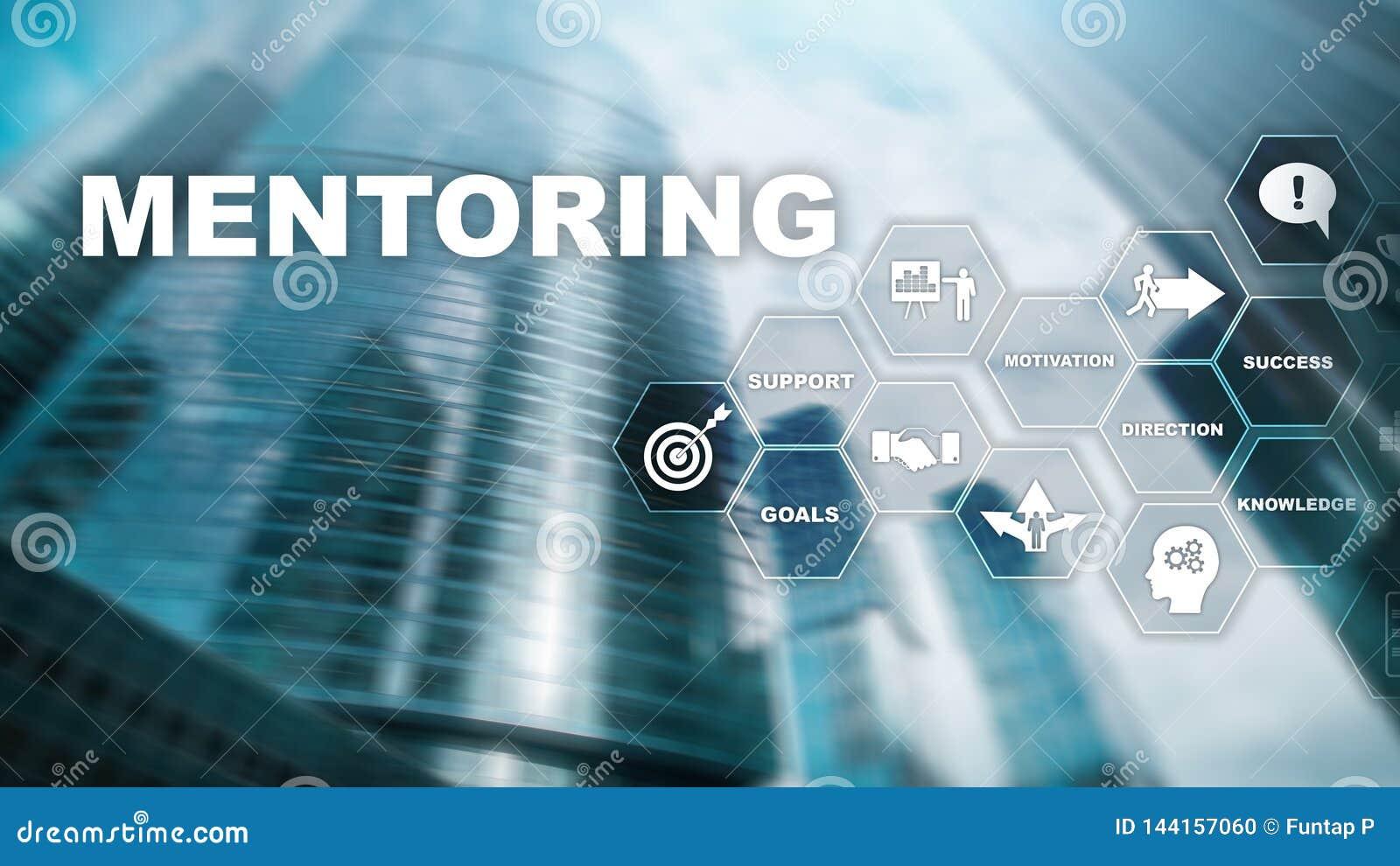AffärsMentoring Personlig coachning Utbildande personligt utvecklingsbegrepp Blandat massmedia