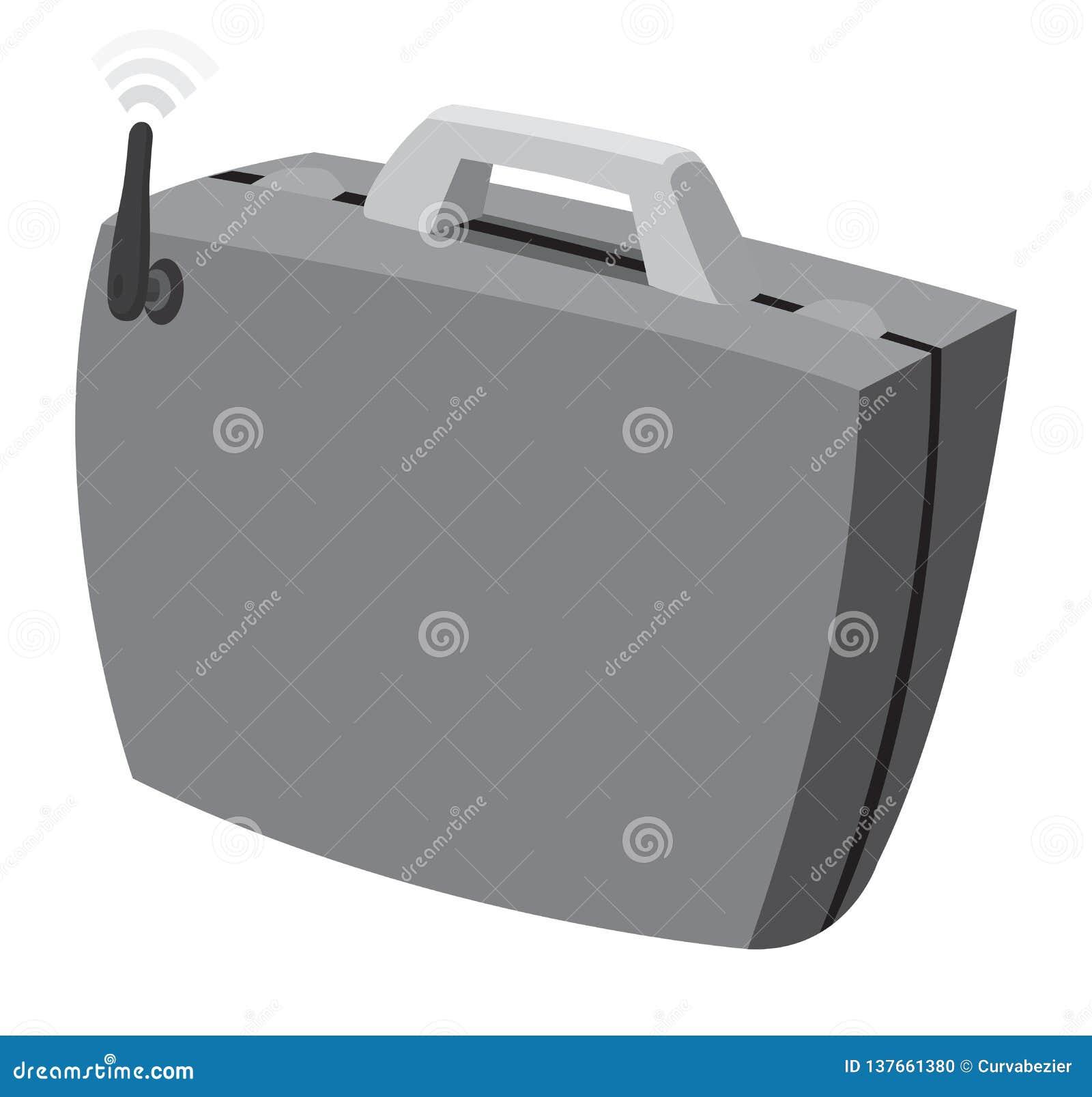 Affärsportfölj med wifiinternetuppkoppling