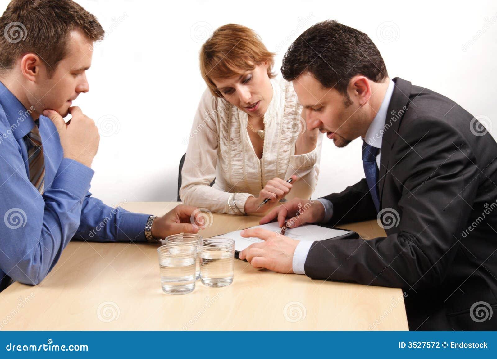 Affärssamarbetsfolk