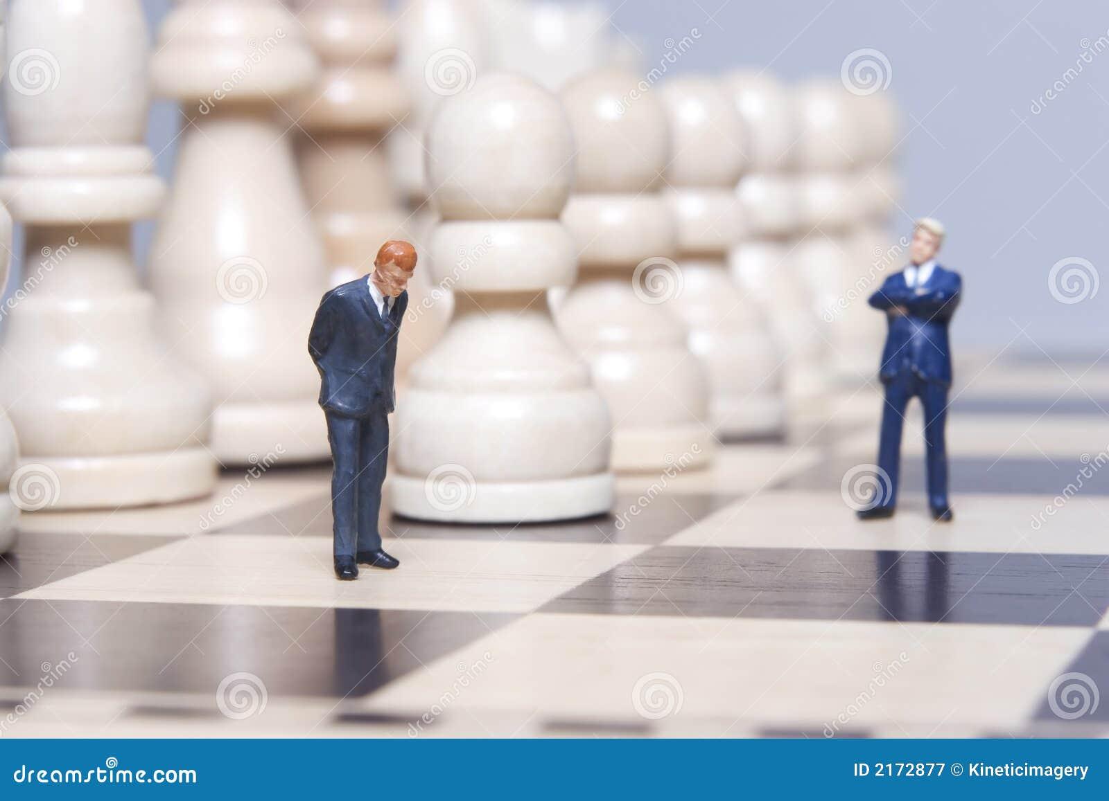 Affärsschackfigurine