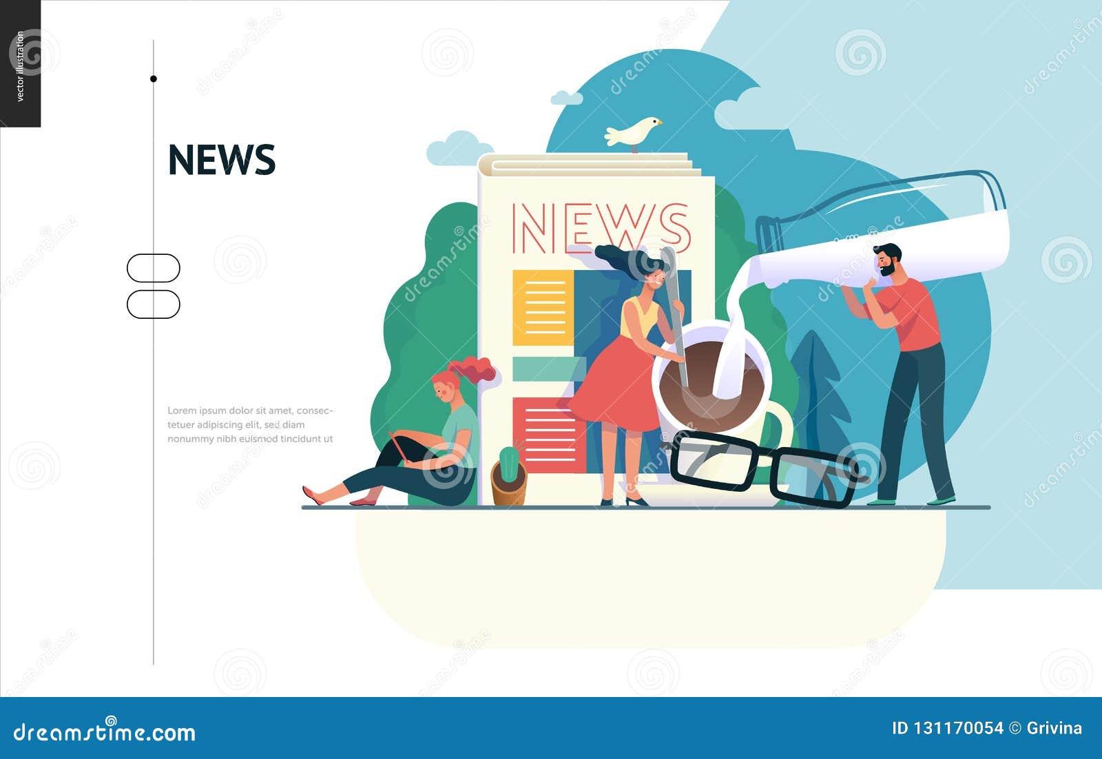 Affärsserie - nyheterna eller artiklar, rengöringsdukmall