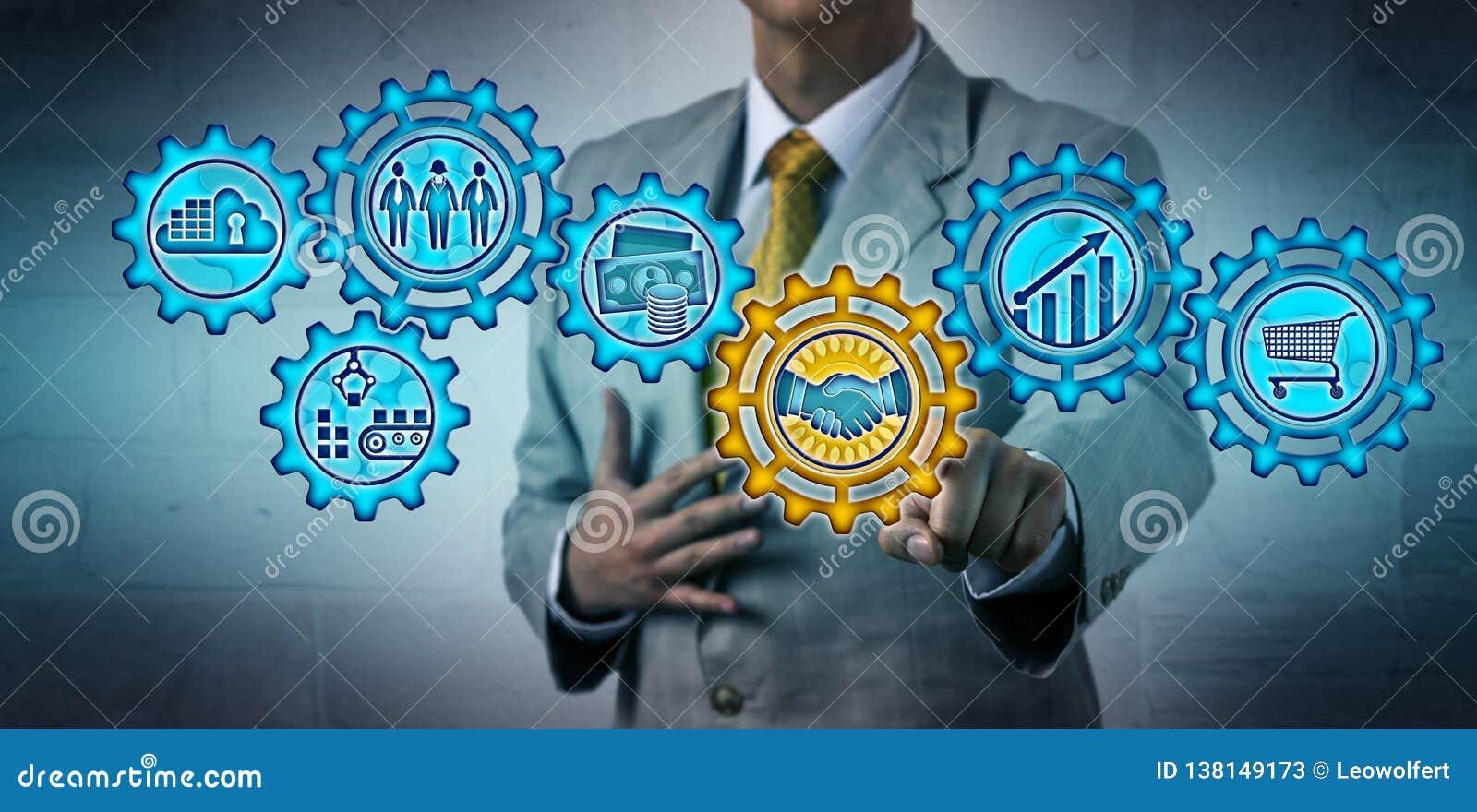 Affaire de gestion exécutive par l intermédiaire de mécanisme virtuel