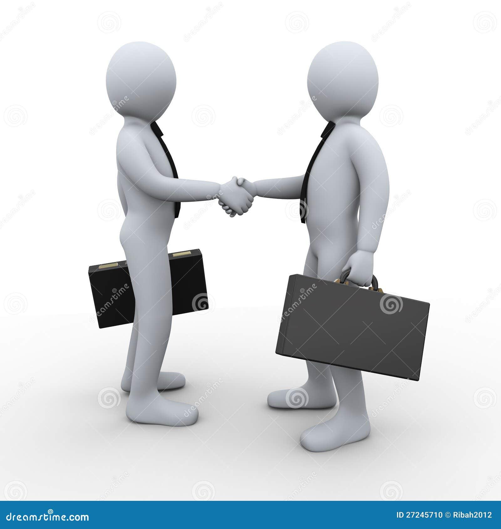 affaire de partenariat des gens 3d illustration stock image 27245710. Black Bedroom Furniture Sets. Home Design Ideas
