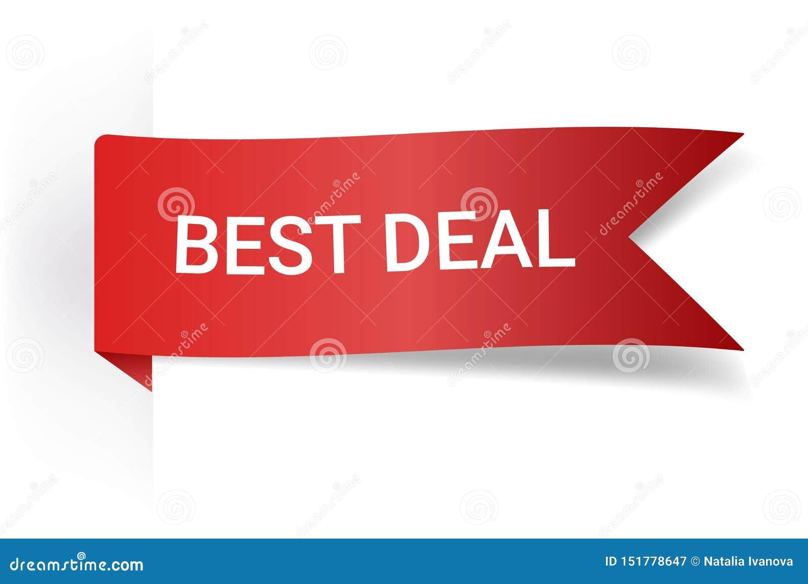 Affaire rouge de meilleur de signe d illustration de vecteur Illustrations pour le marketing de promotion pour des copies et des