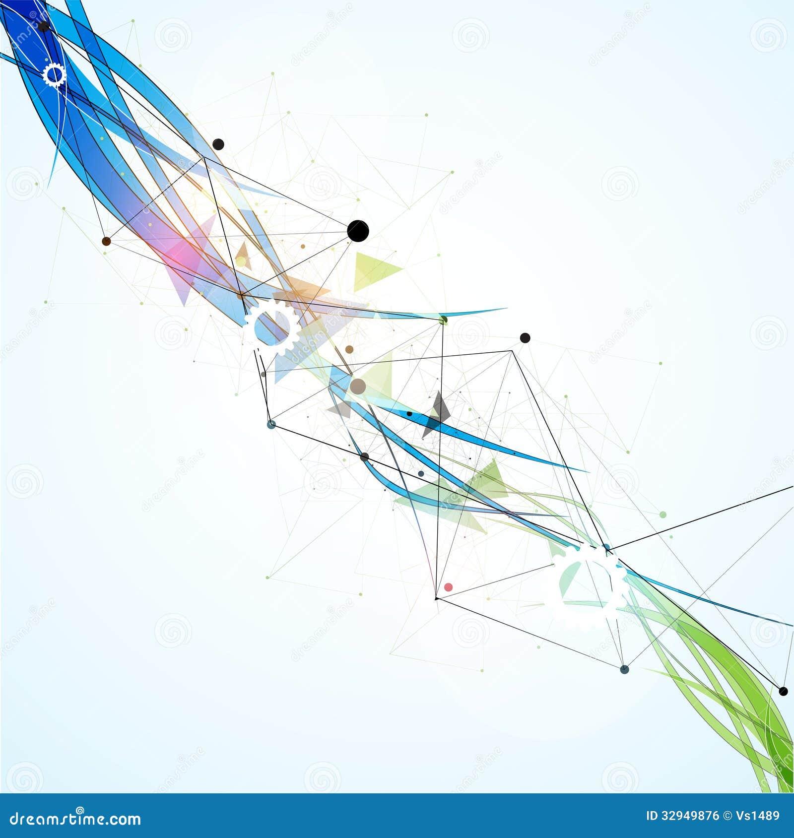 Affaires élevées d informatique d Internet futuriste de la Science