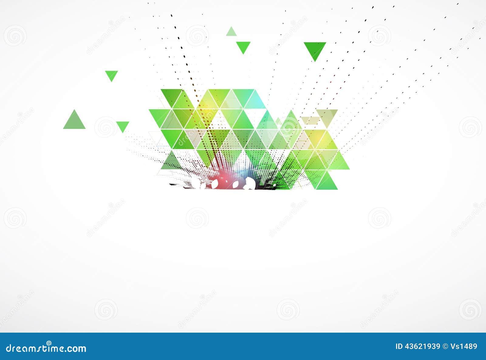 Affaires d écologie de triangle et fond verts de technologie