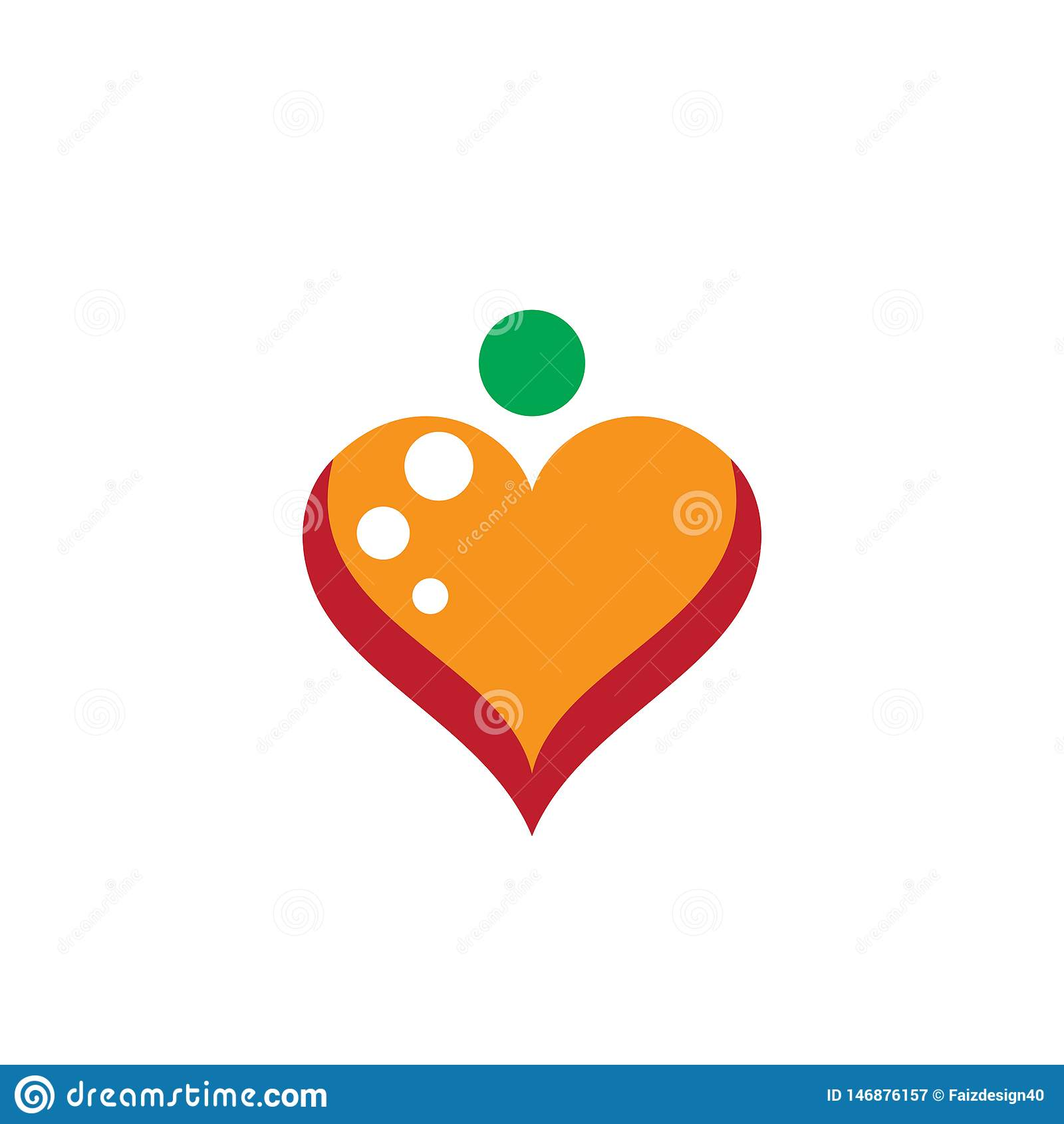 Affaires de vecteur de logo d amour