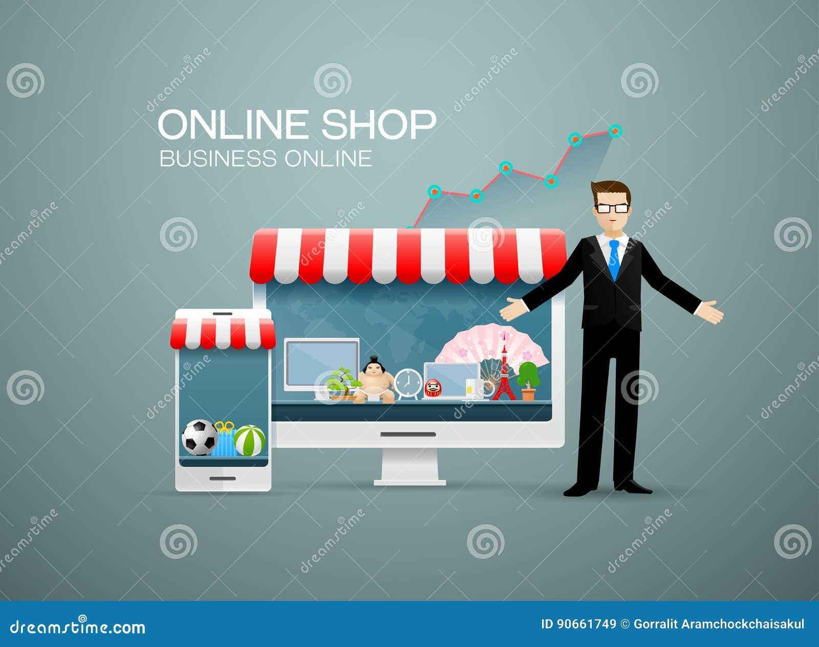 Affaires en ligne de boutique en ligne