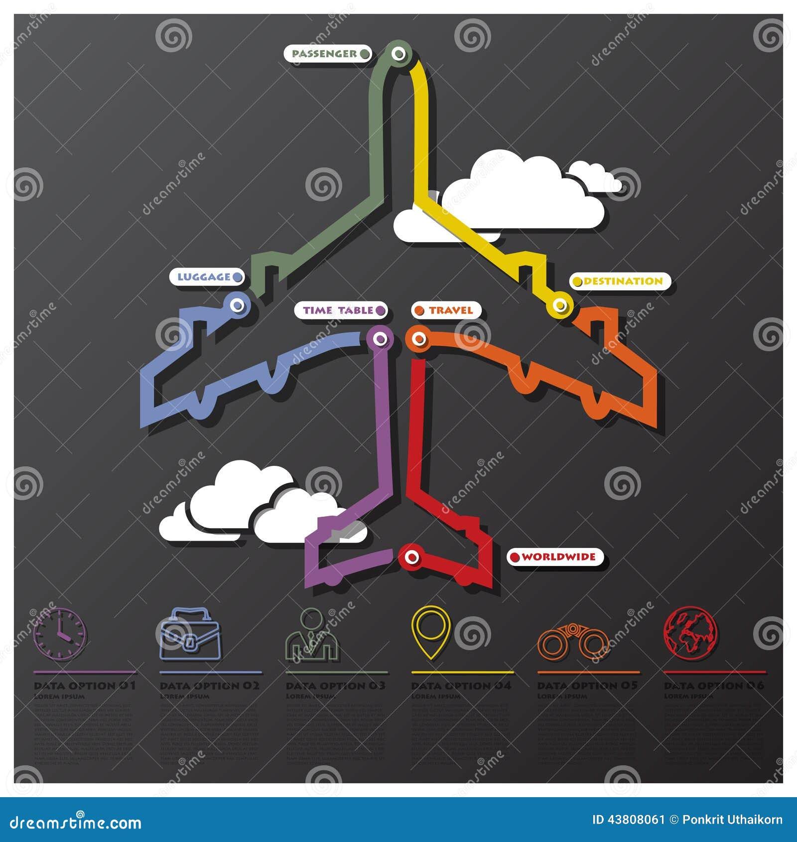 Affaires Infographic de chronologie de connexion de voyage et de voyage