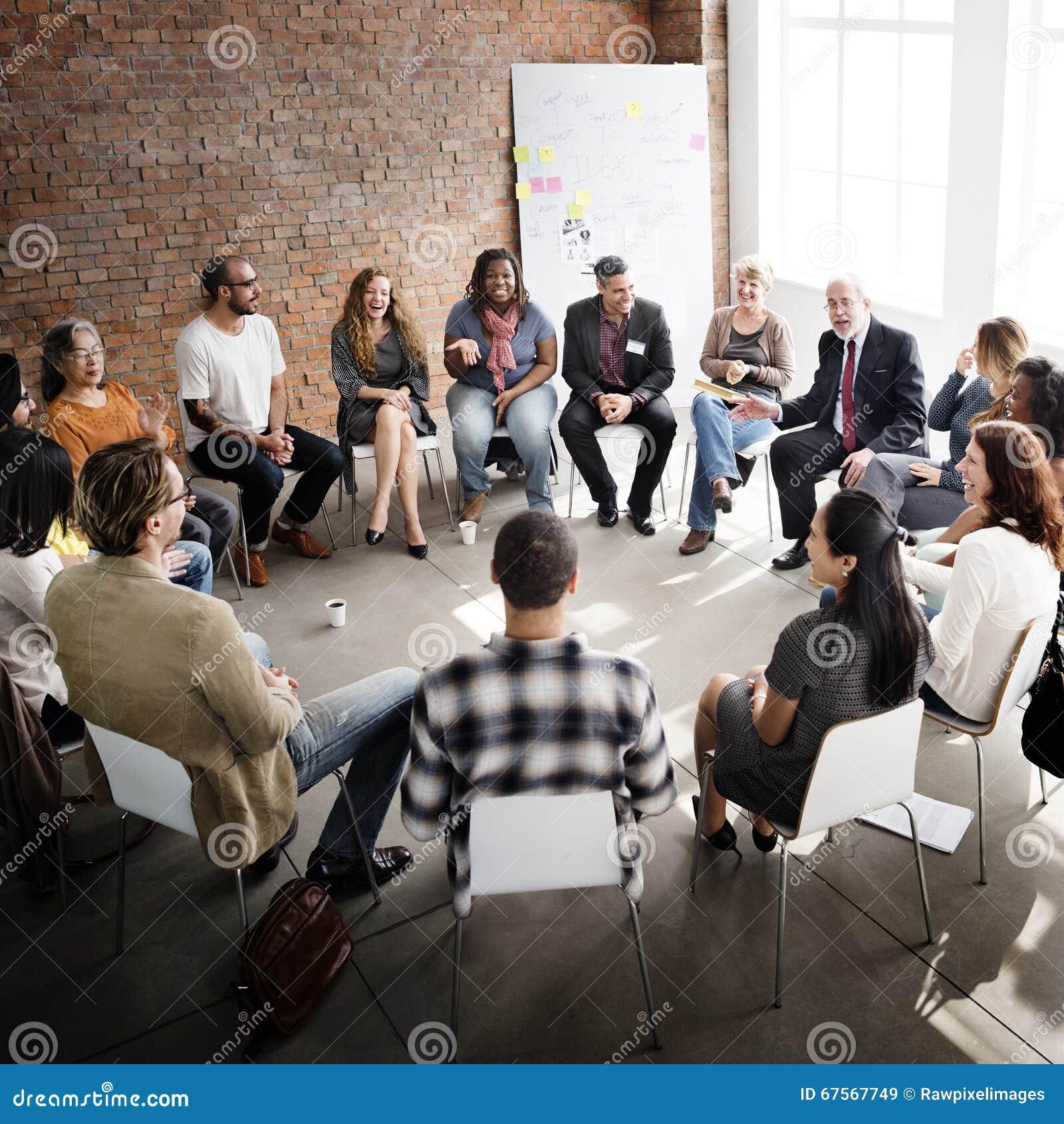 Affaires Team Seminar Corporate Strategy Concept