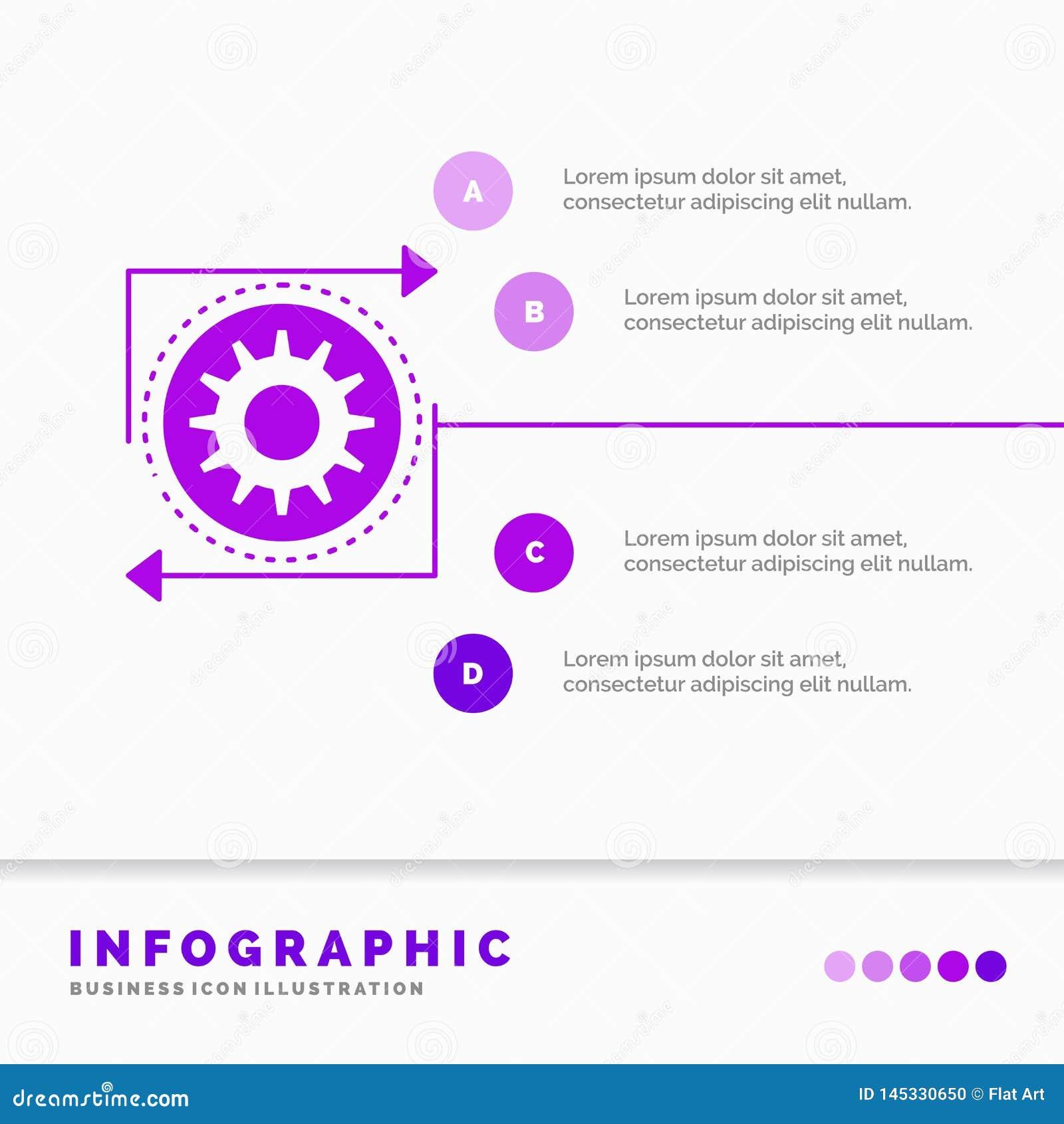 Affaires, vitesse, gestion, exécution, calibre d Infographics de processus pour le site Web et présentation E