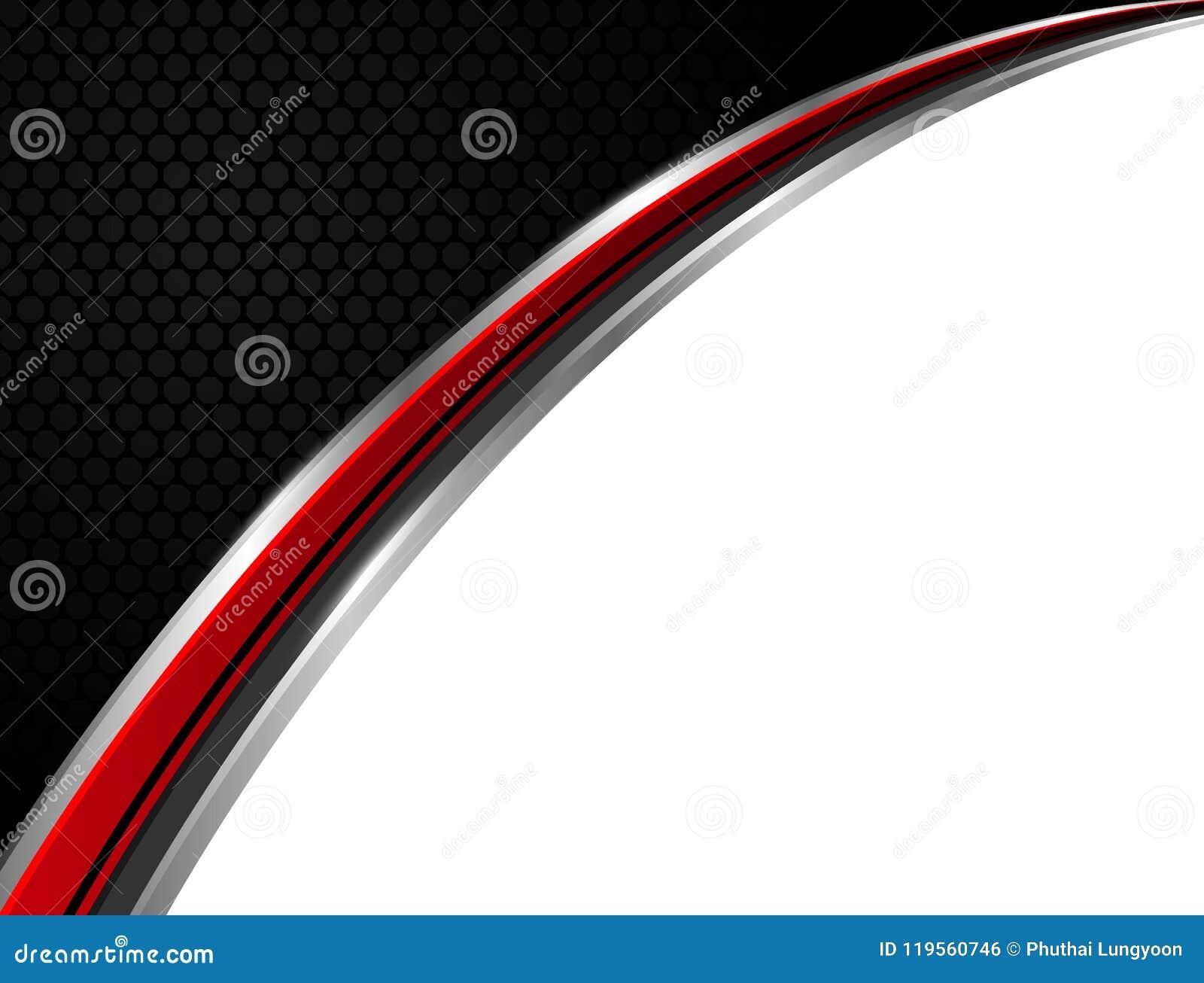 Affare astratto di vettore del fondo di tecnologia rosso e nero