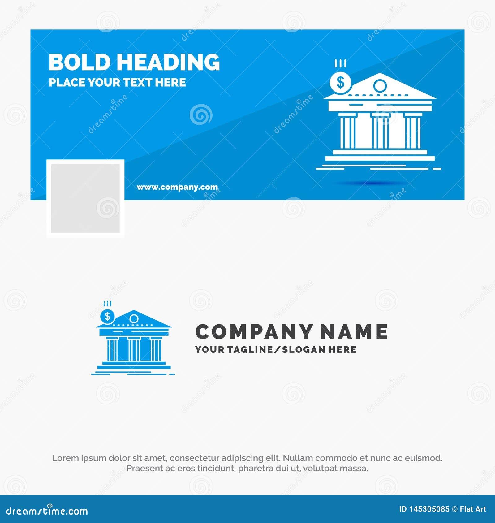 Affare blu Logo Template per architettura, banca, attivit? bancarie, costruzione, federale Progettazione dell insegna di cronolog