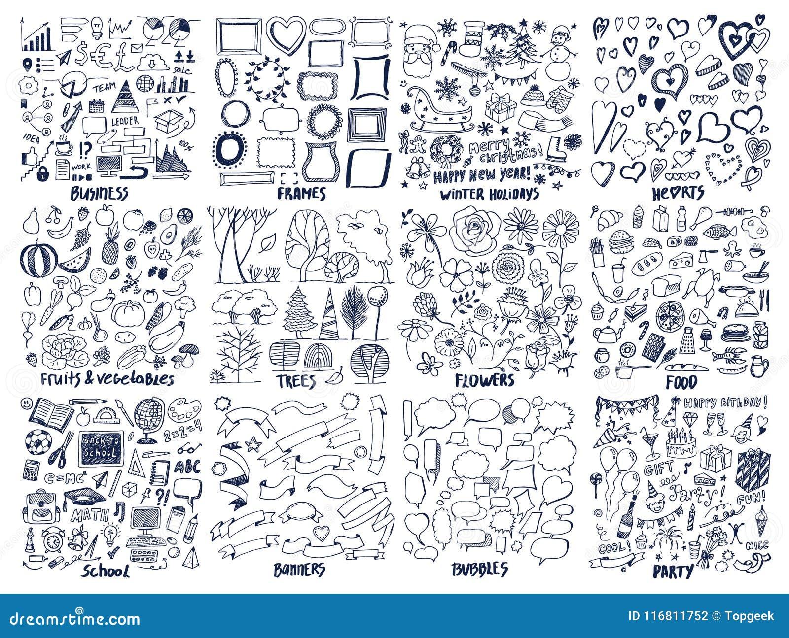 Affare e strutture, illustrazione di vettore di feste