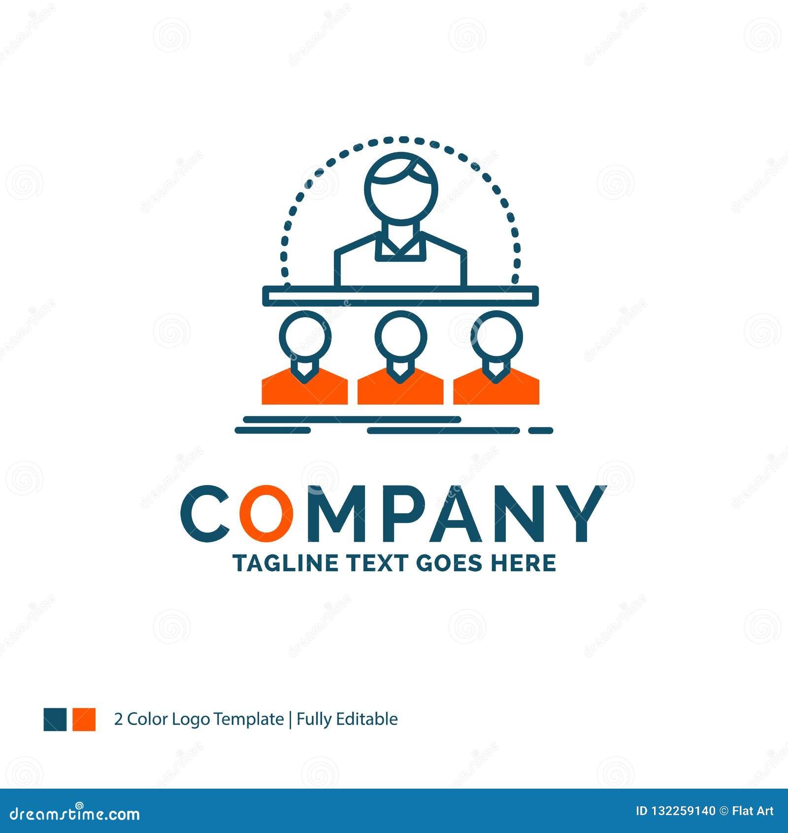 Affare, vettura, corso, istruttore, mentore Logo Design Blu
