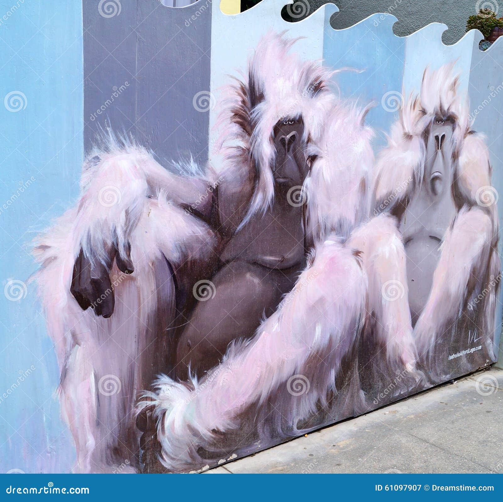 Affe-Graffiti-Kunst