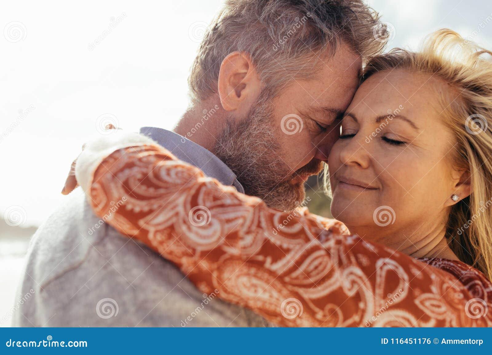 Mature women loving together
