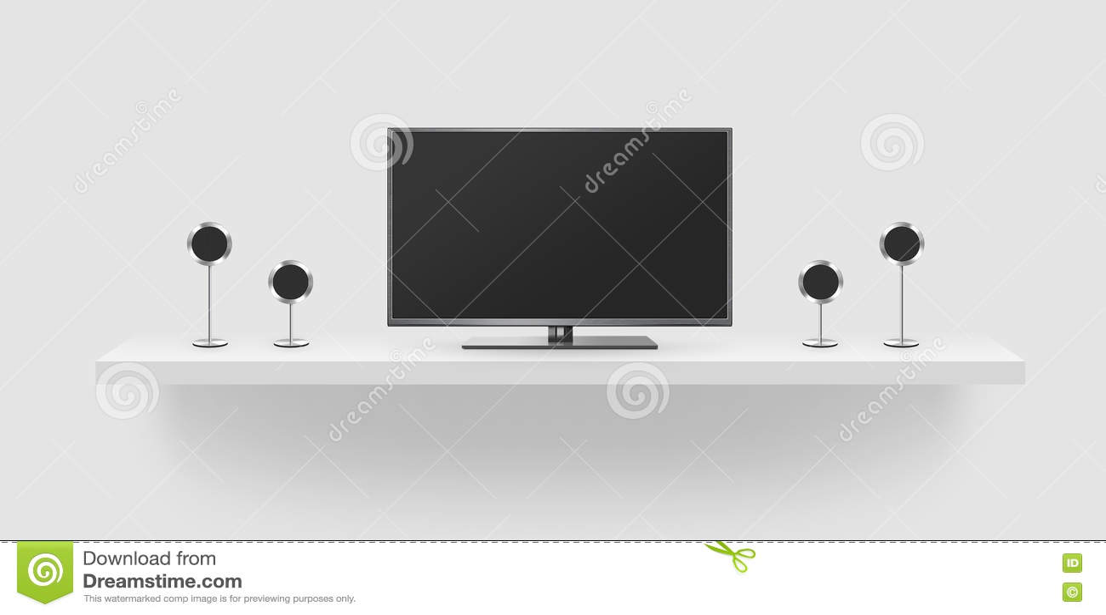 Affichage Cristaux Liquides D Cran Plat De Tv Illustration  # Maison En Ecran Plasma