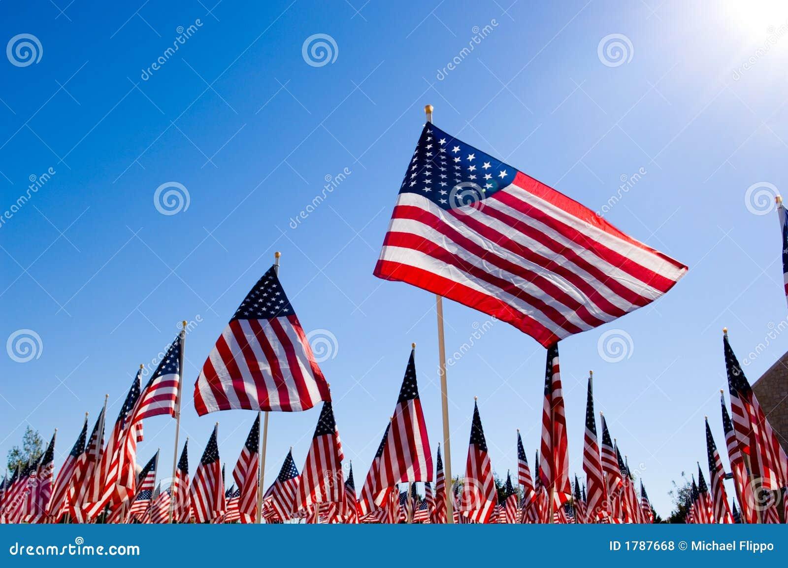 Affichage d indicateur américain en l honneur de jour de vétérans