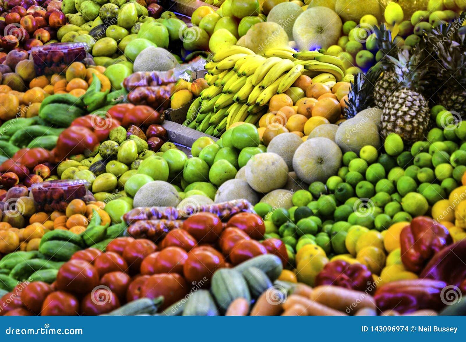 Affichage de fruit, marché, Costa Rica, Amérique Centrale