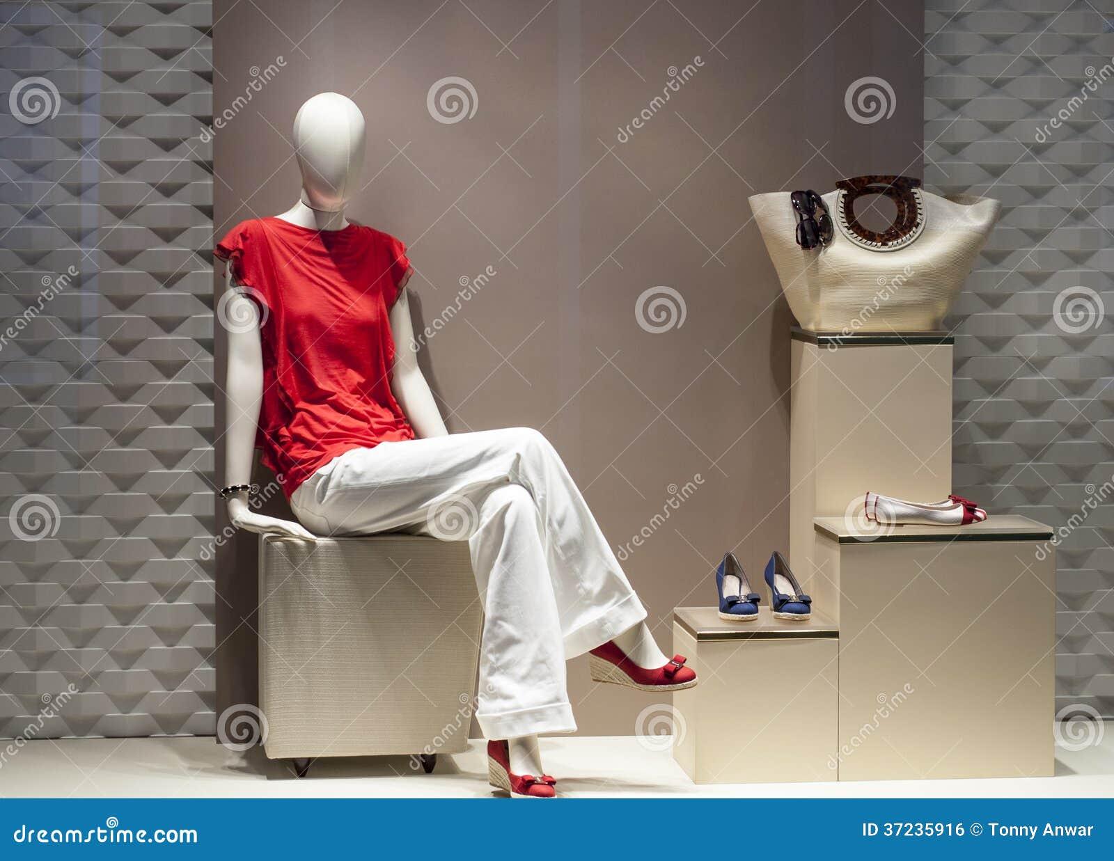 Affichage de mannequin de mode