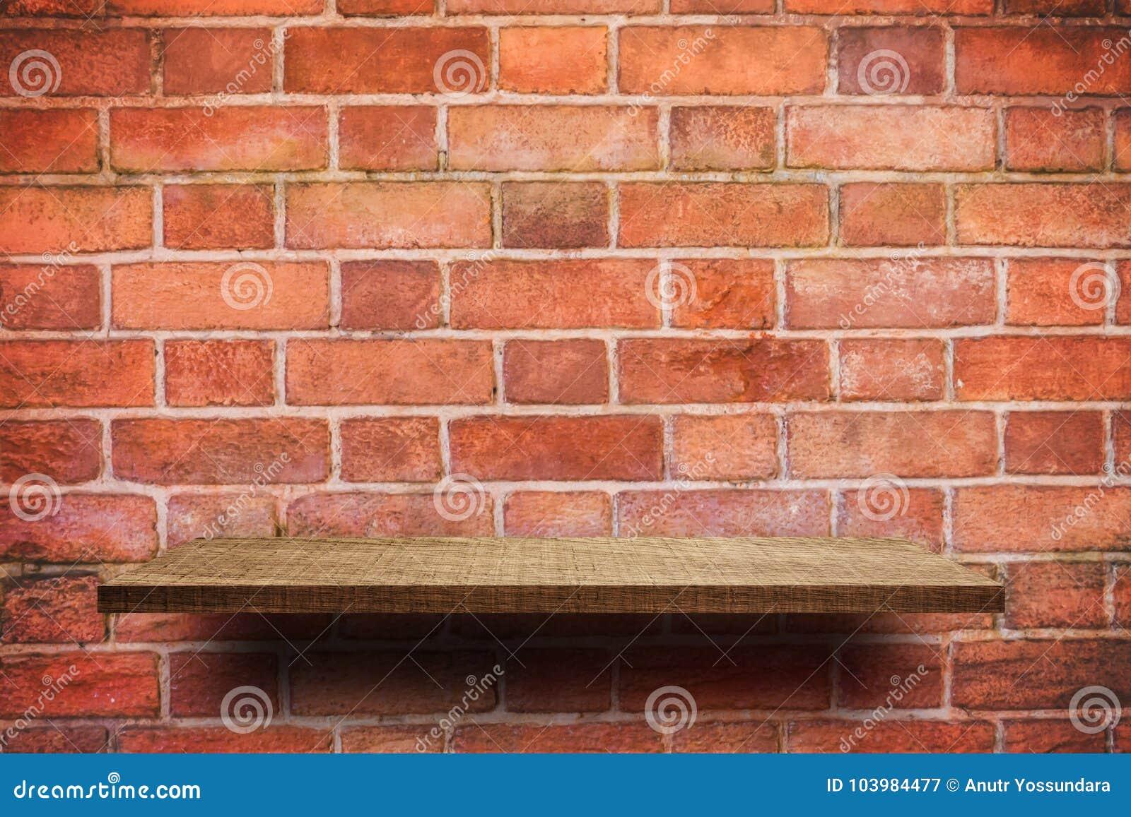 Etagere Sur Mur En Brique affichage vide de produit d'étagère sur le fond de mur de