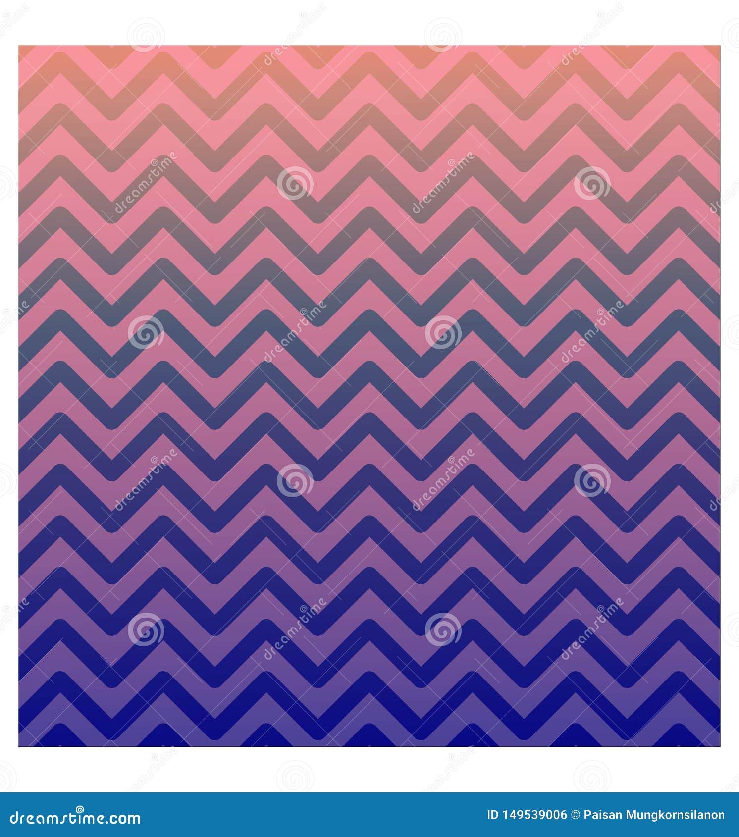 Affiche abstraite créative de style le zigzag Rose-pourpre de gradient forme le fond Prêt à employer pour des annonces, médias so