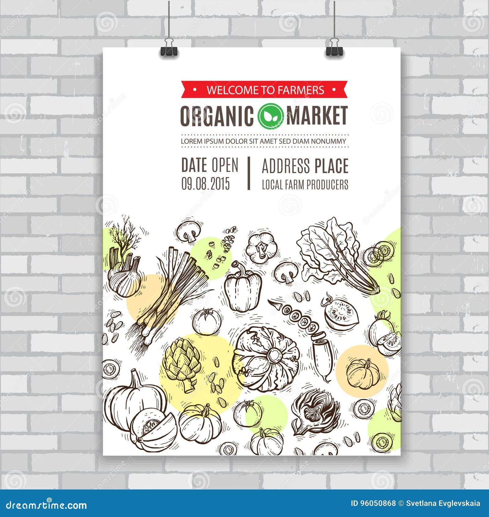 Affiche avec des légumes