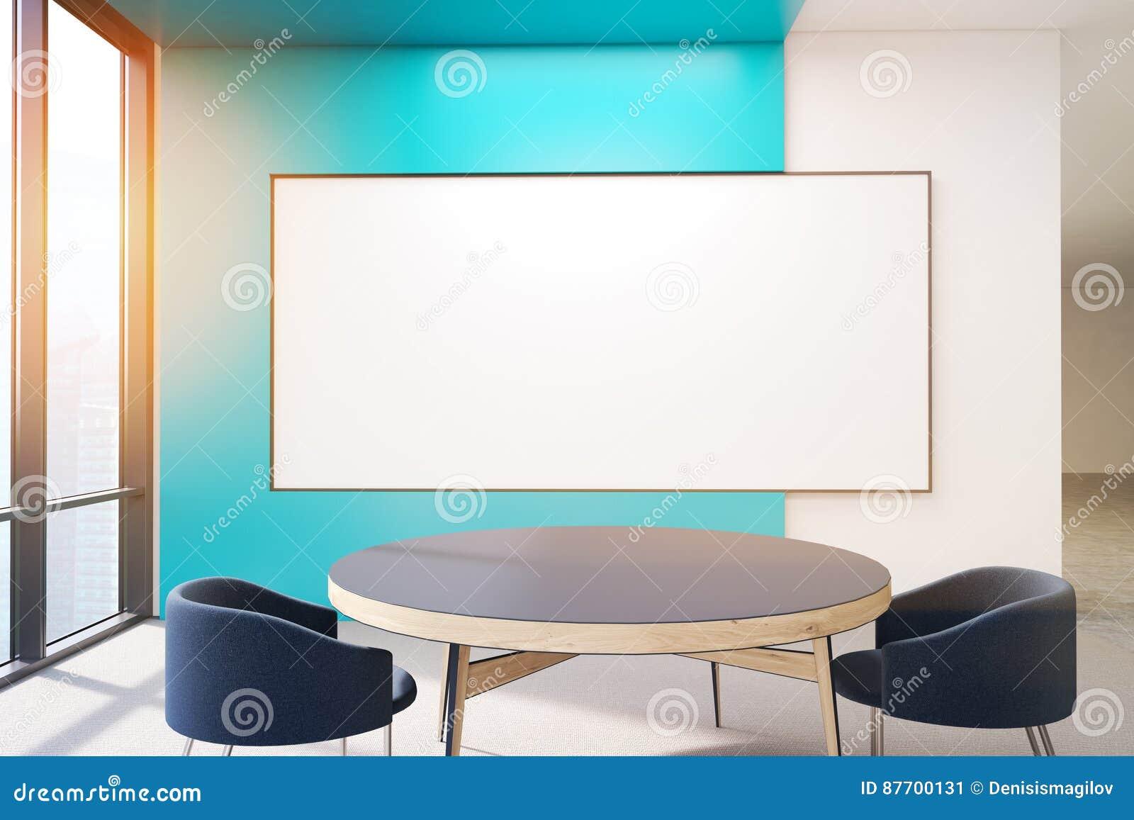 Affiche blanc sur le mur