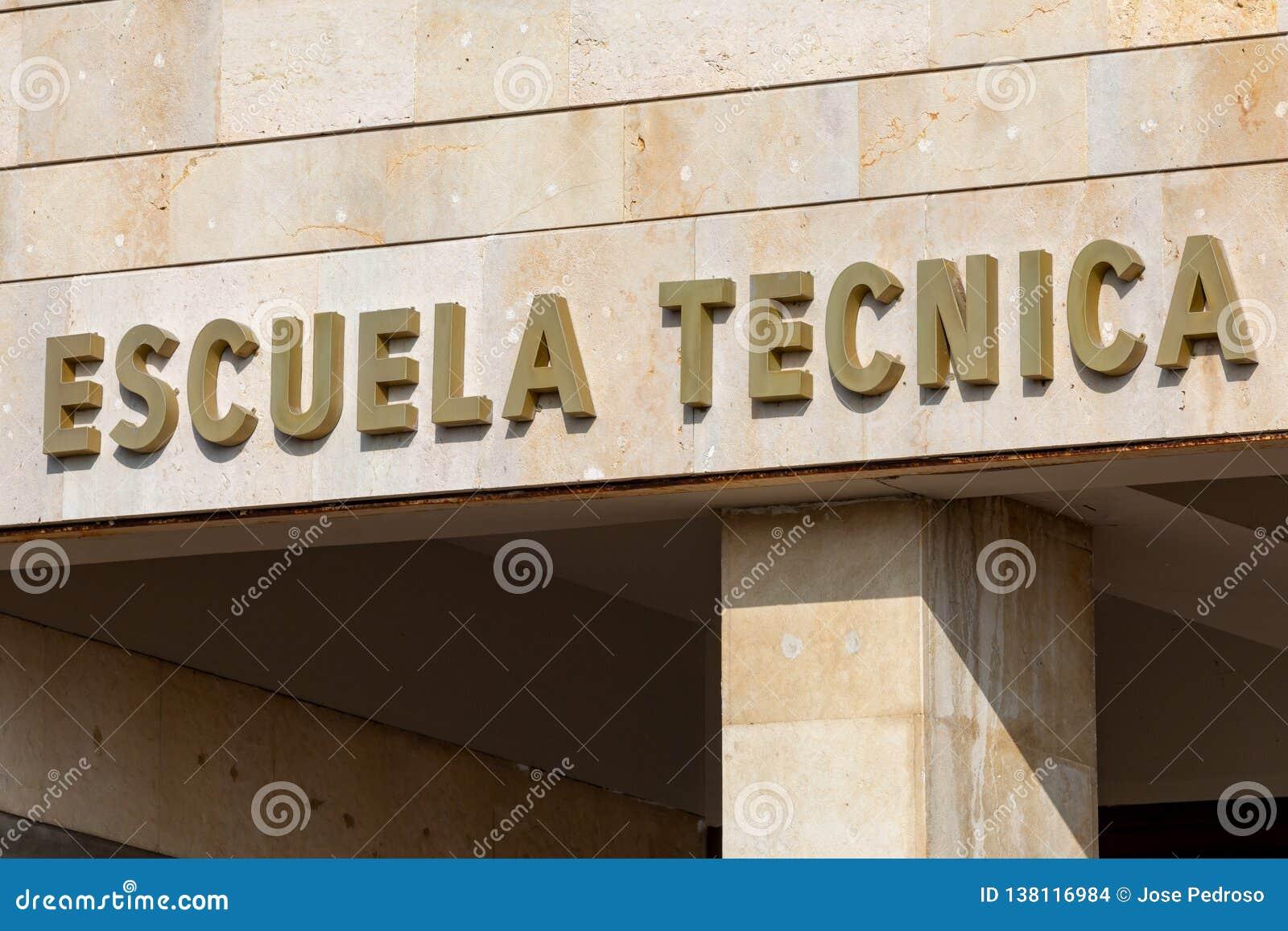Affiche d école technique dans l Espagnol
