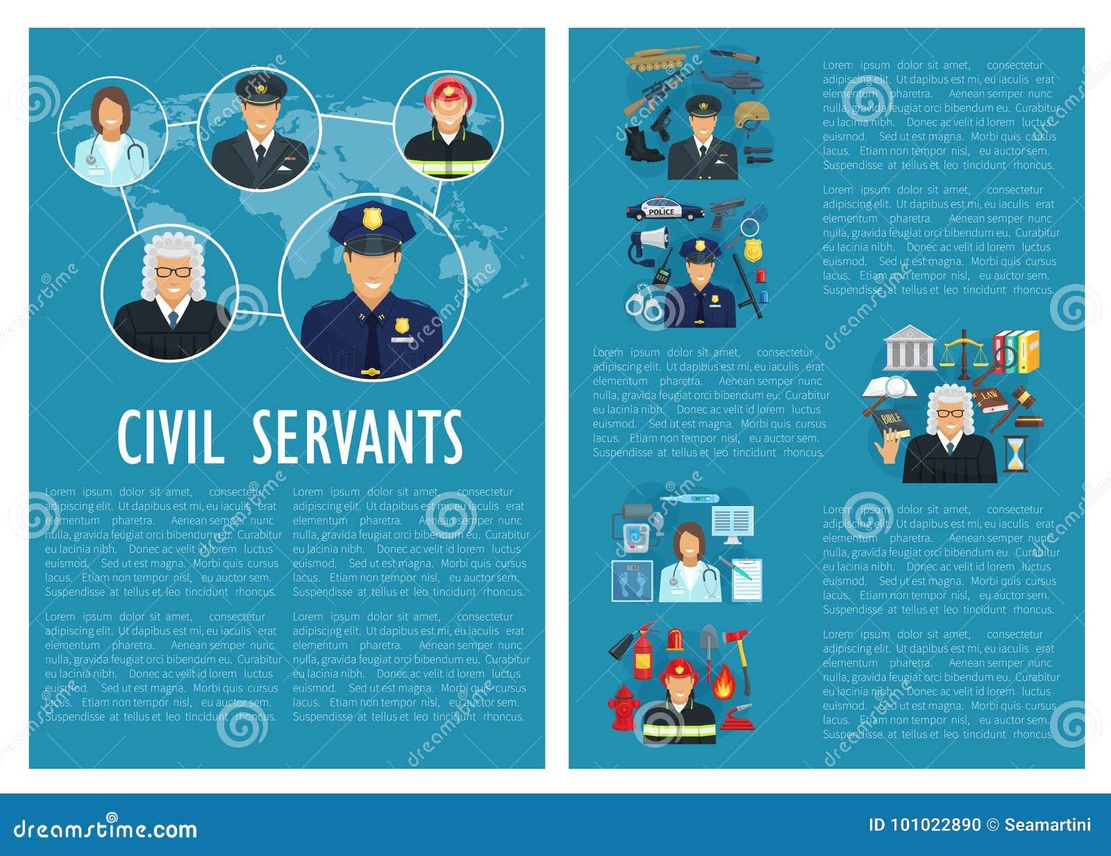 Affiche d aviation de police de juge de fonctionnaires de vecteur