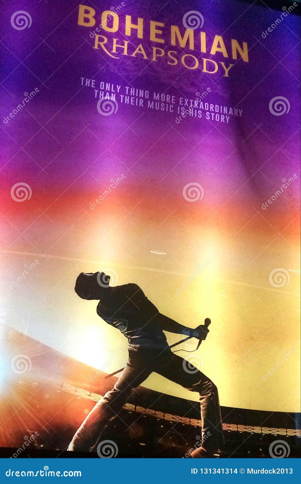 Affiche de Bohème de promotion de film de reine de rhapsodie