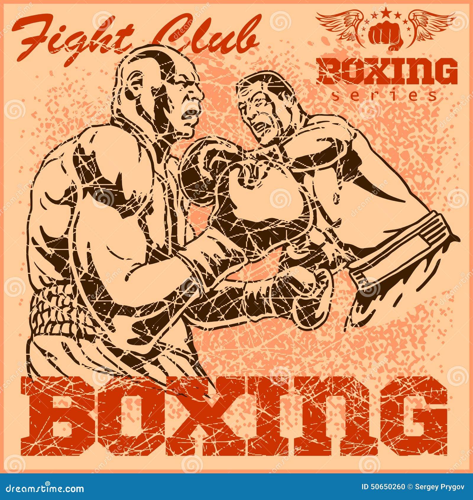 Tournois de boxe organisée par la mairie Affiche-de-boxe-de-vintage-50650260