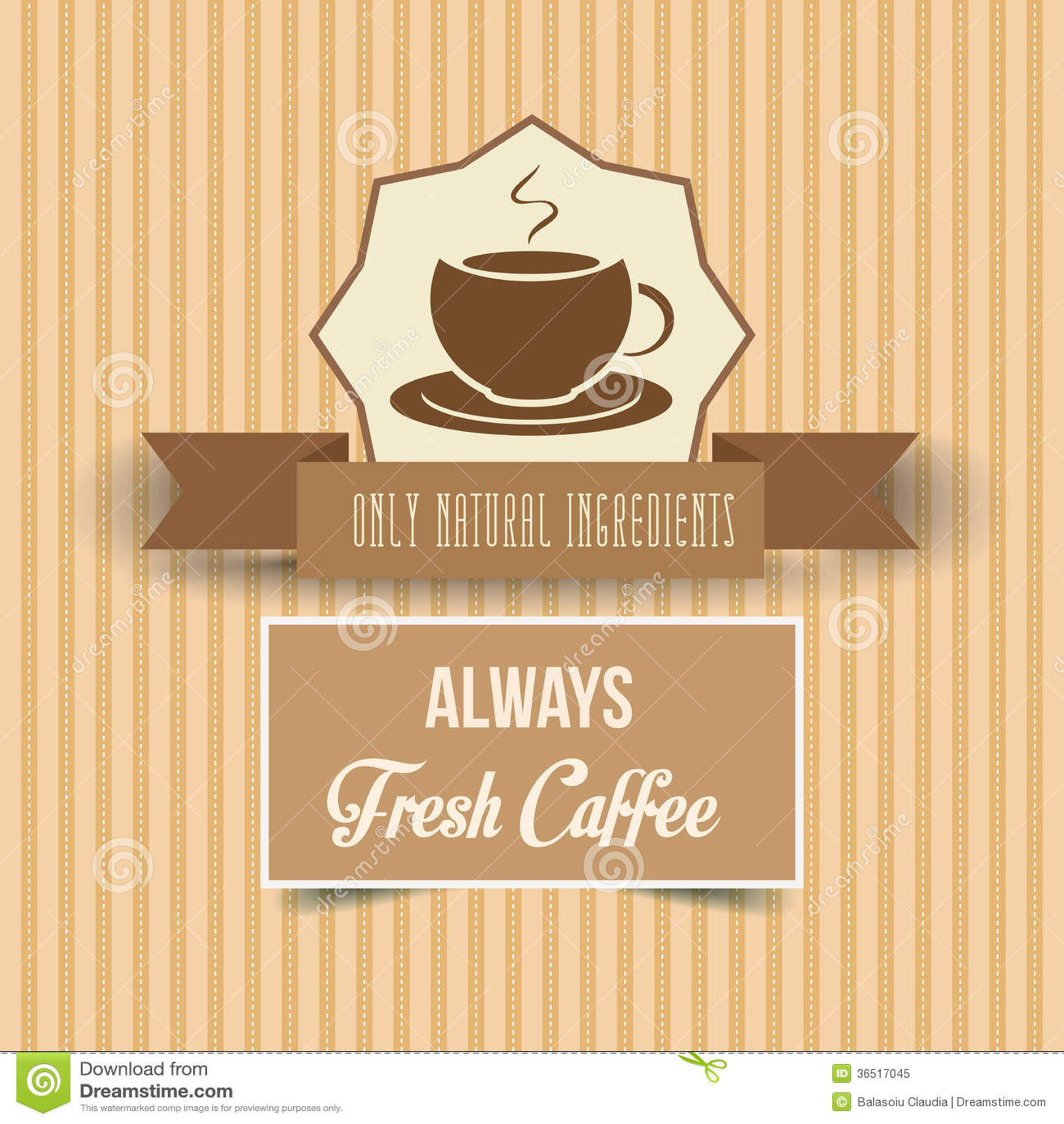 Affiche de café de vintage