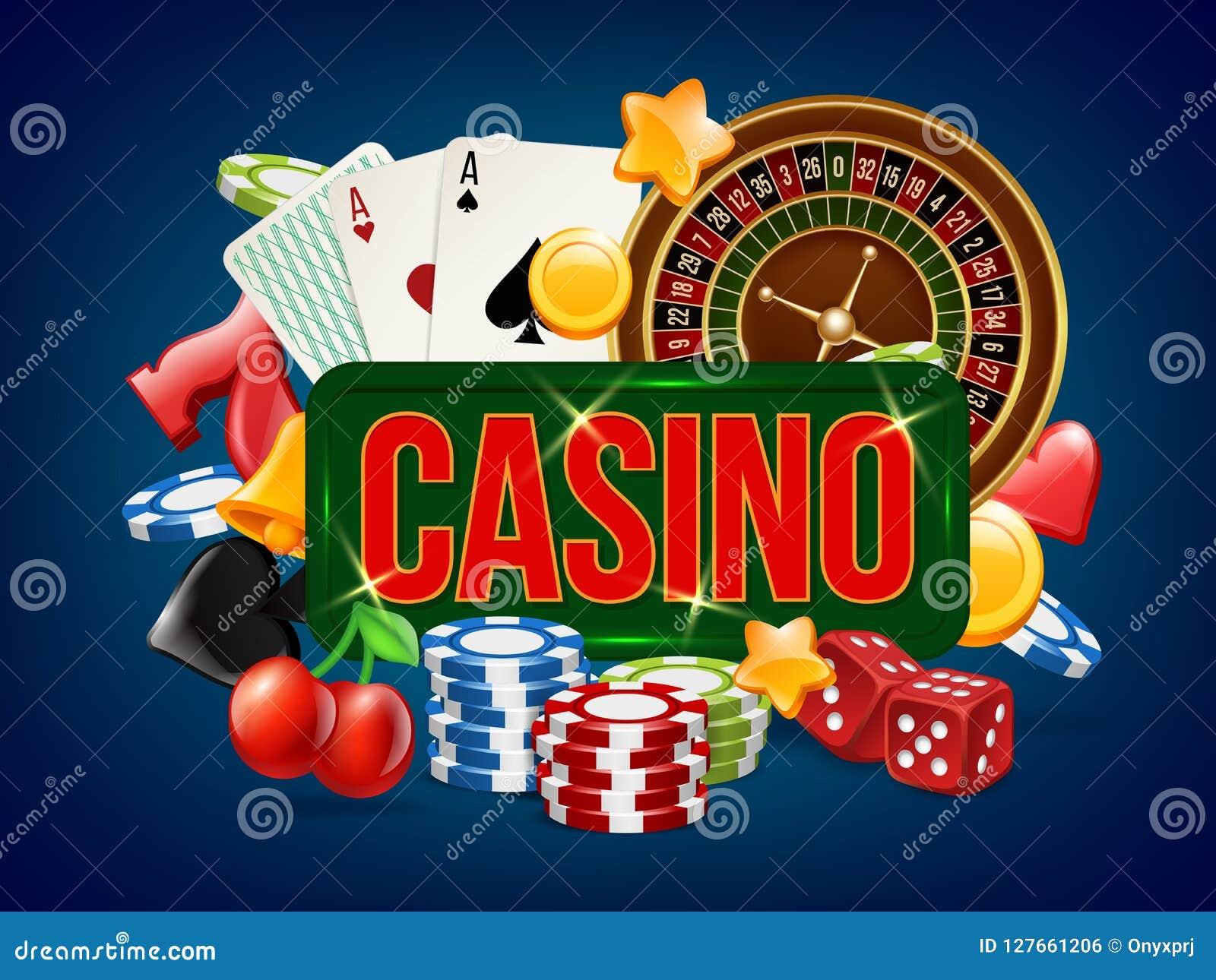 Affiche de casino La publicité du domino de jeu de bowling de matrices de tisonnier et d autres des jeux de casino dirigent le ca