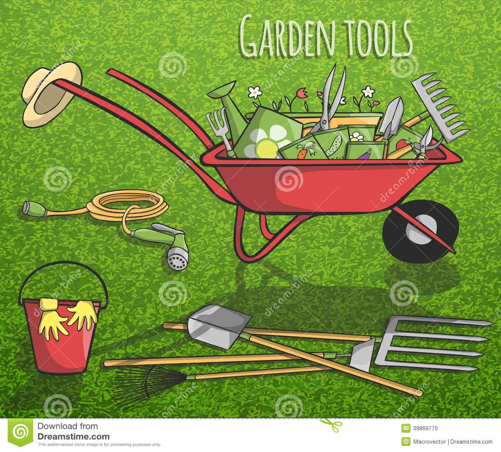 Affiche de concept d 39 outils de jardin illustration de for Outil de conception jardin