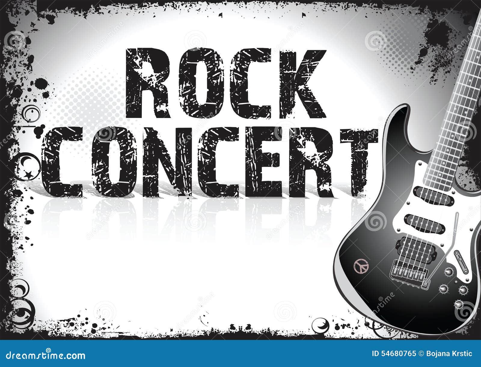 affiche de concert de rock illustration stock image 54680765. Black Bedroom Furniture Sets. Home Design Ideas