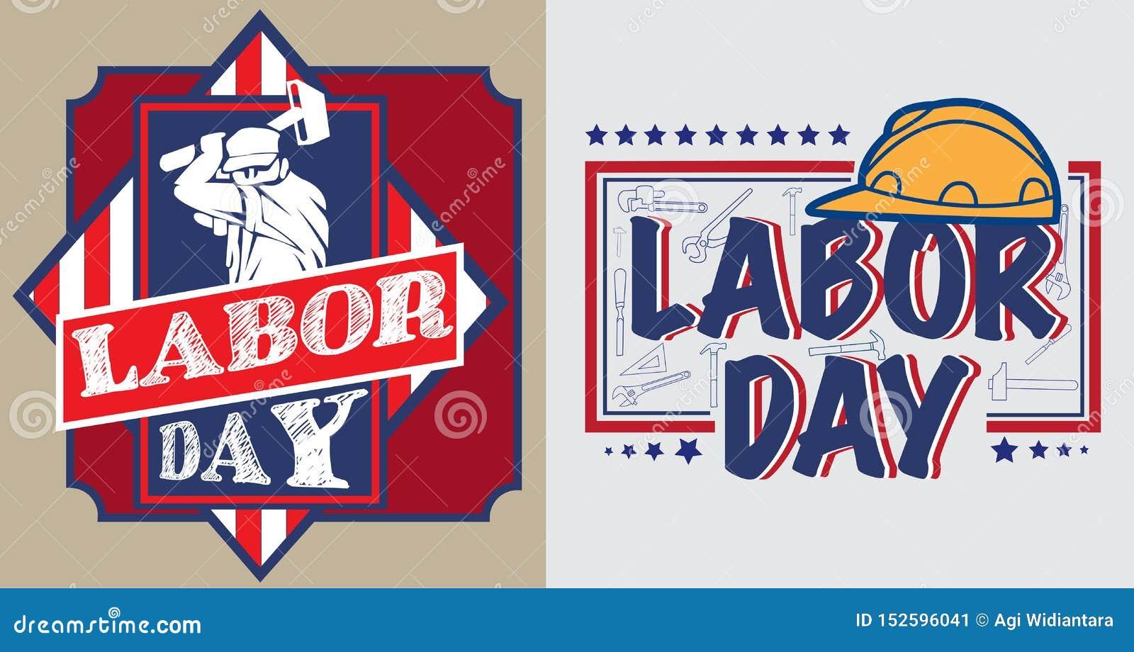 Affiche de Fête du travail de l Amérique