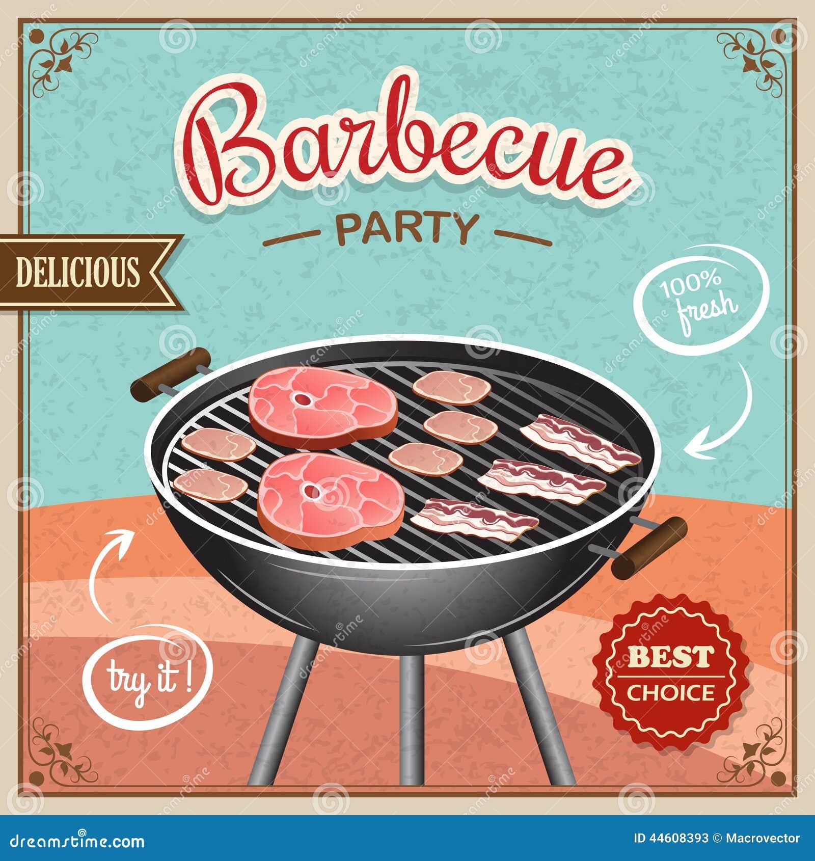 Affiche de gril de BBQ