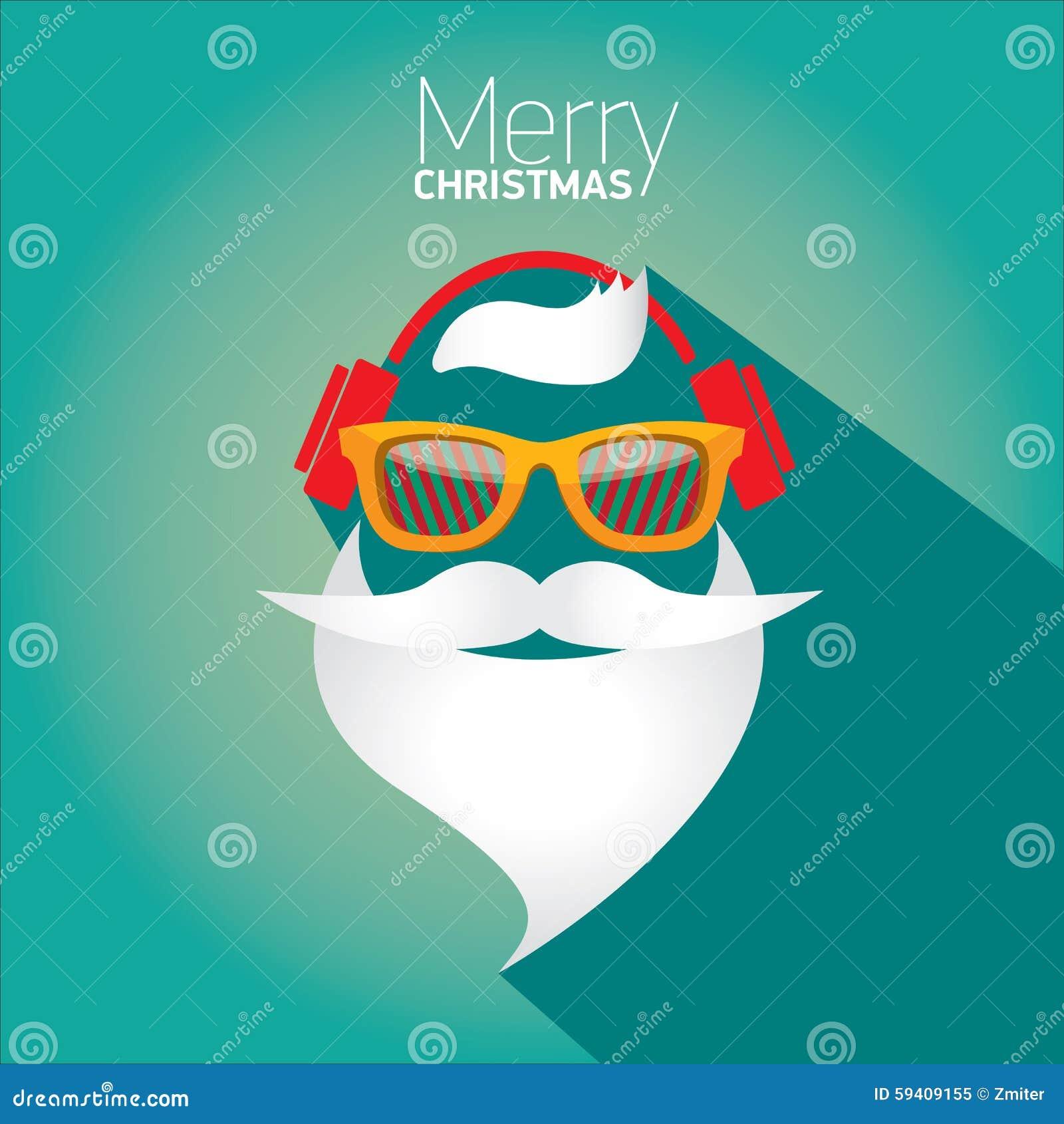 affiche noel Affiche De Hippie De Noël Pour La Partie Ou La Carte Illustration  affiche noel