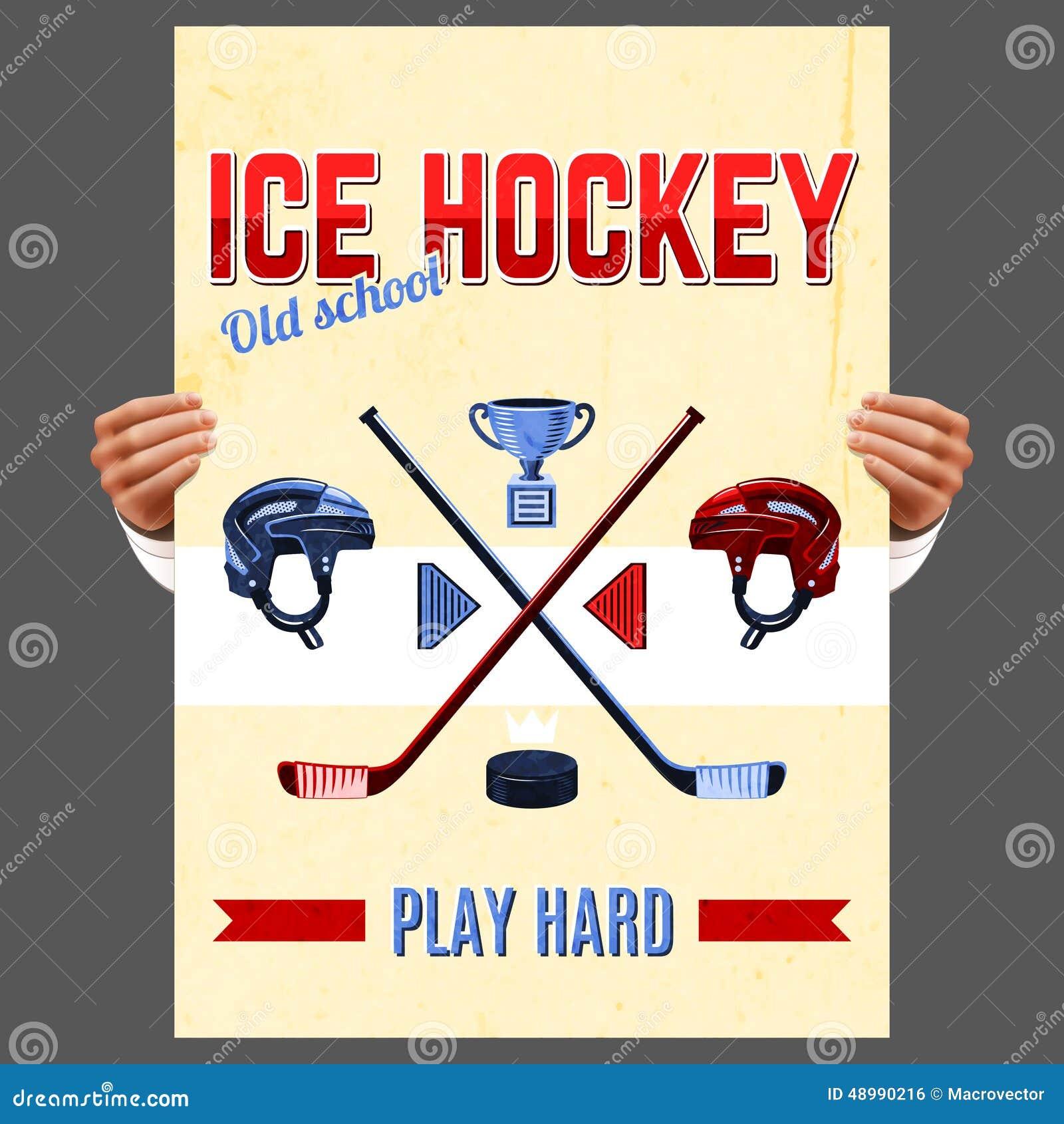 Affiches de hockey vintage