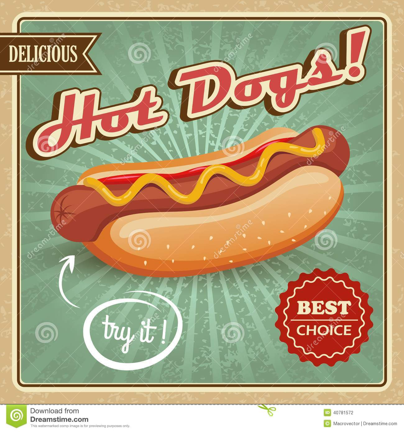 Poster On Adobe Hot Dog Style