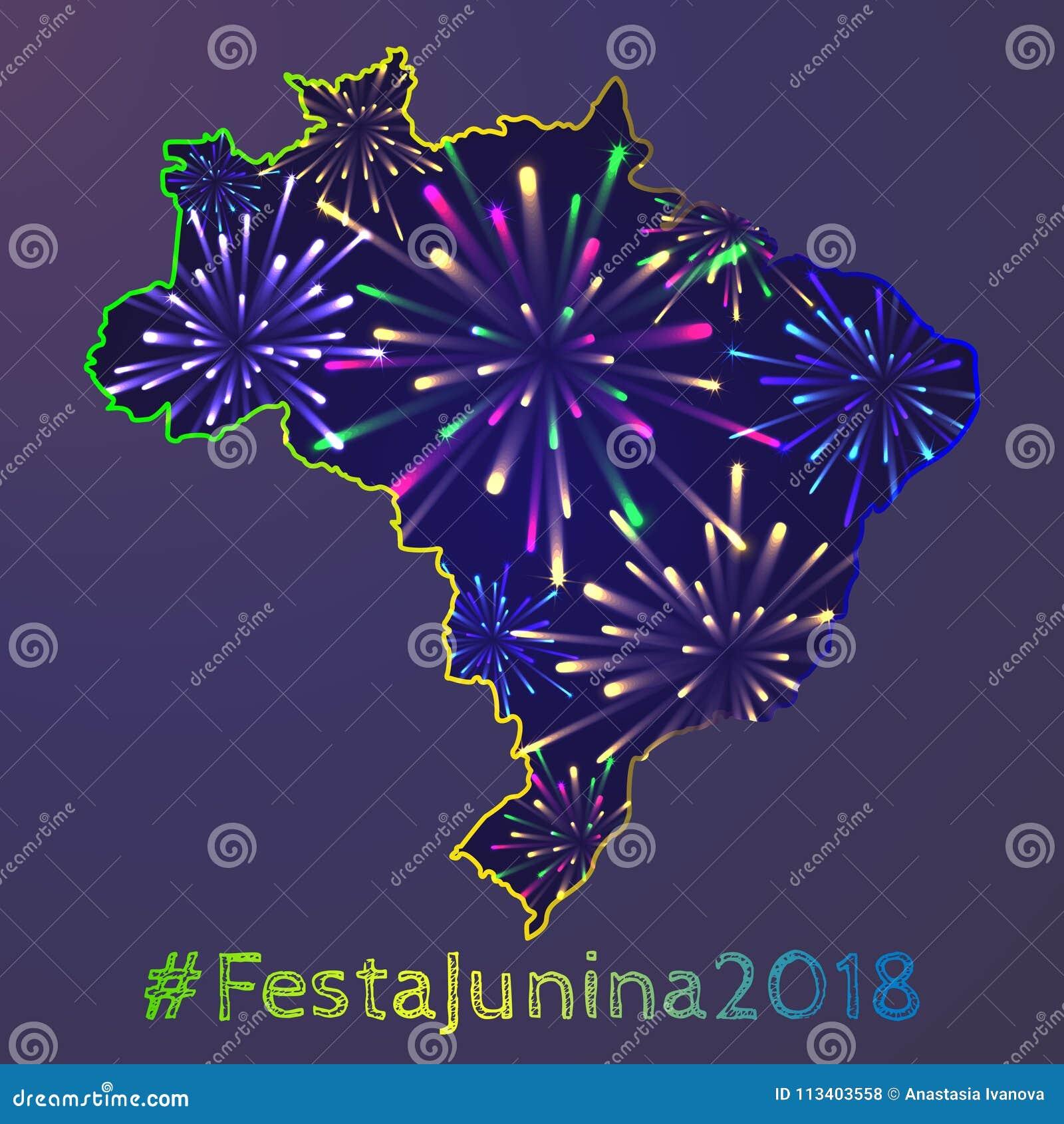 Affiche de junina de Festa
