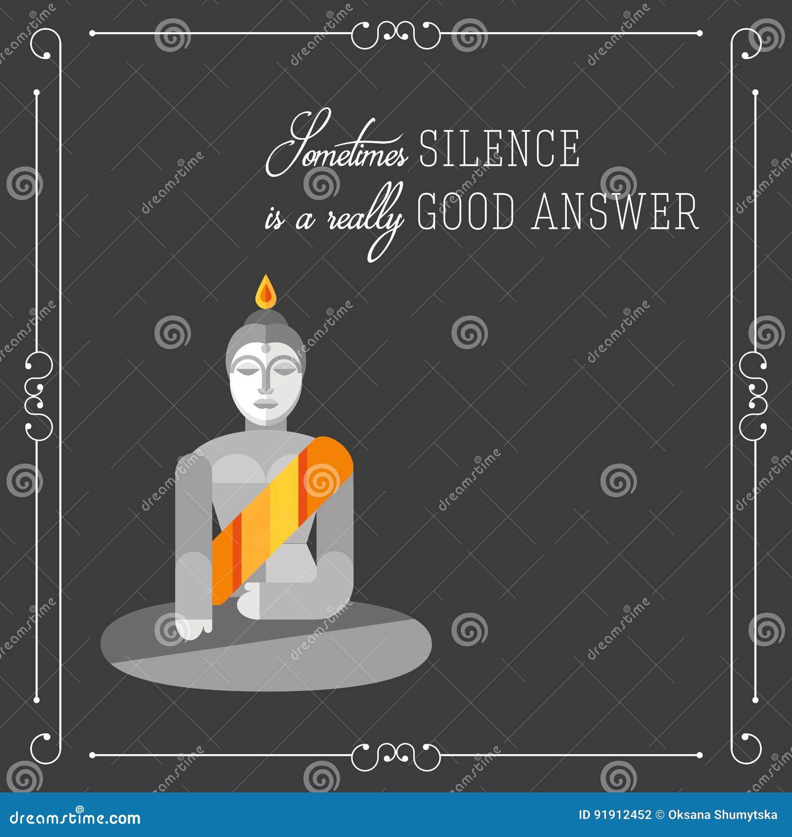 En haut Affiche De Motivation De Citation De Bouddha Illustration de #LI_59