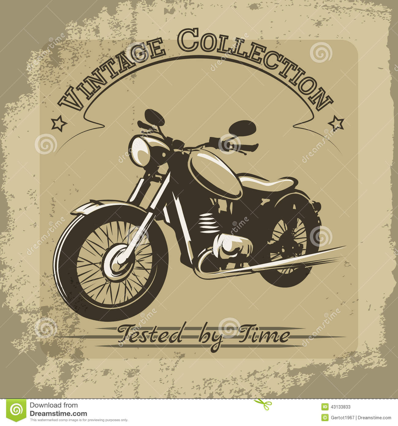 affiche de moto de vintage illustration de vecteur illustration du film 43133833. Black Bedroom Furniture Sets. Home Design Ideas