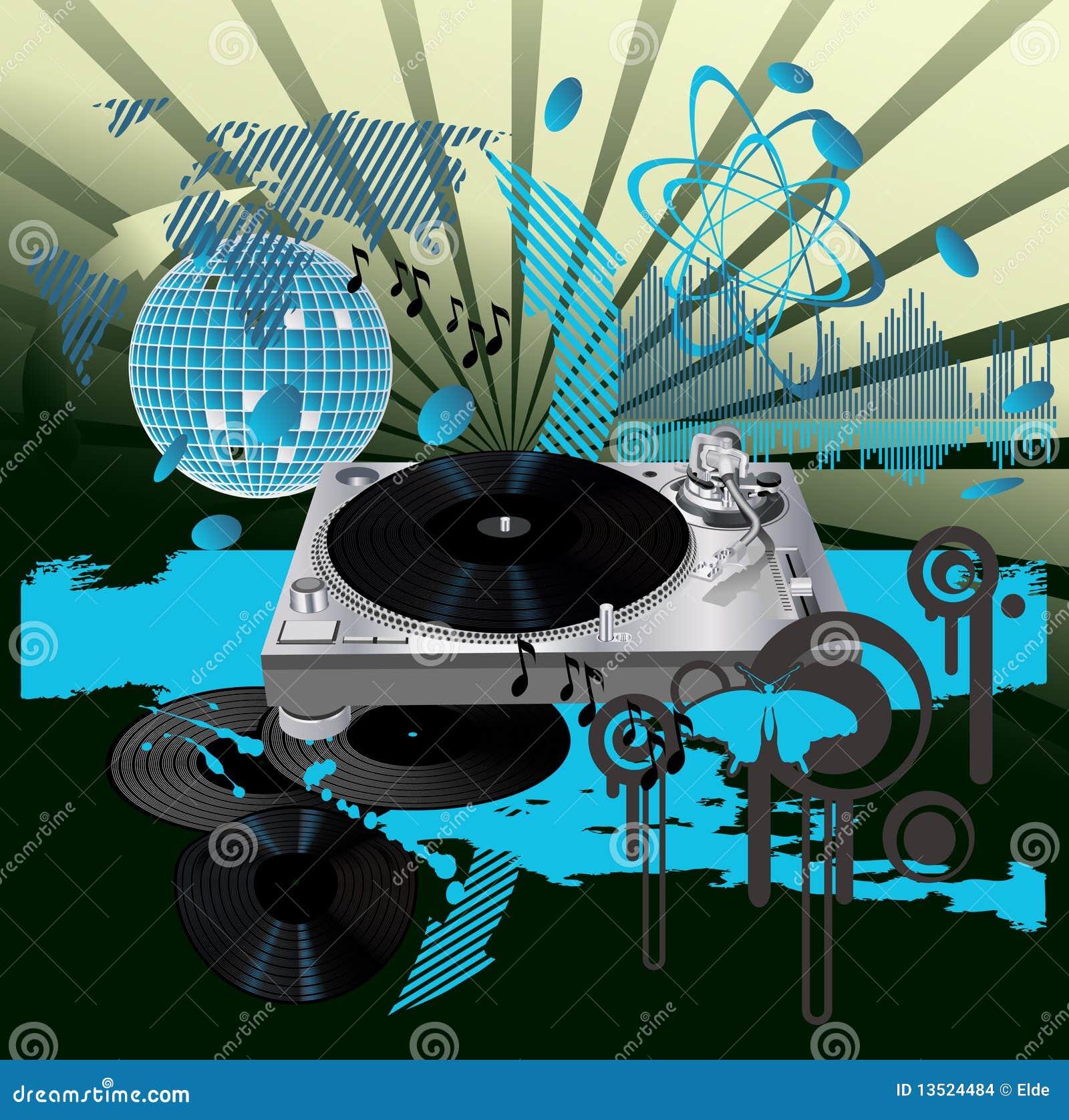 affiche de musique le dj illustration de vecteur illustration du danser 13524484. Black Bedroom Furniture Sets. Home Design Ideas