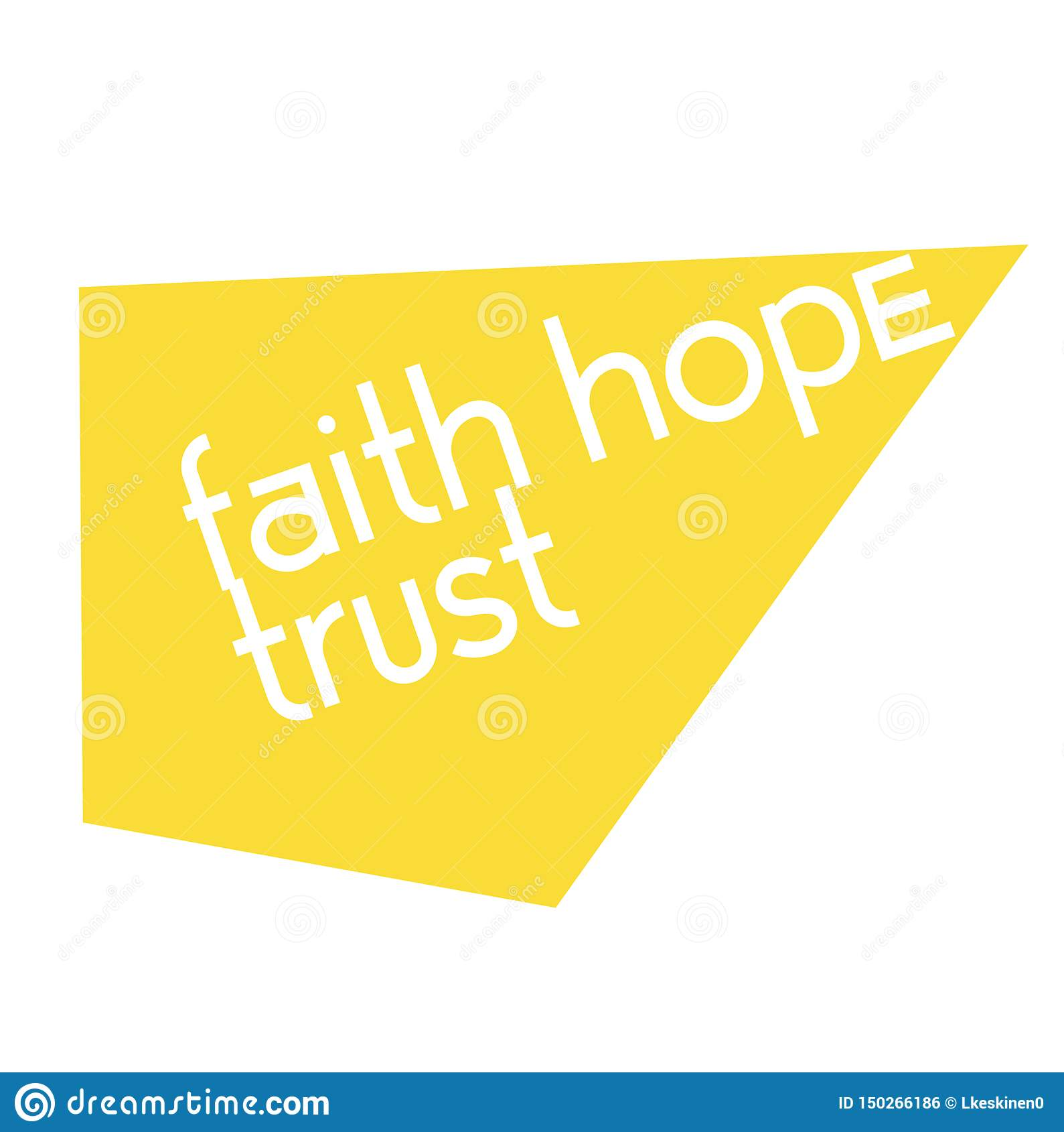 Affiche de signe de citation de confiance d espoir de foi