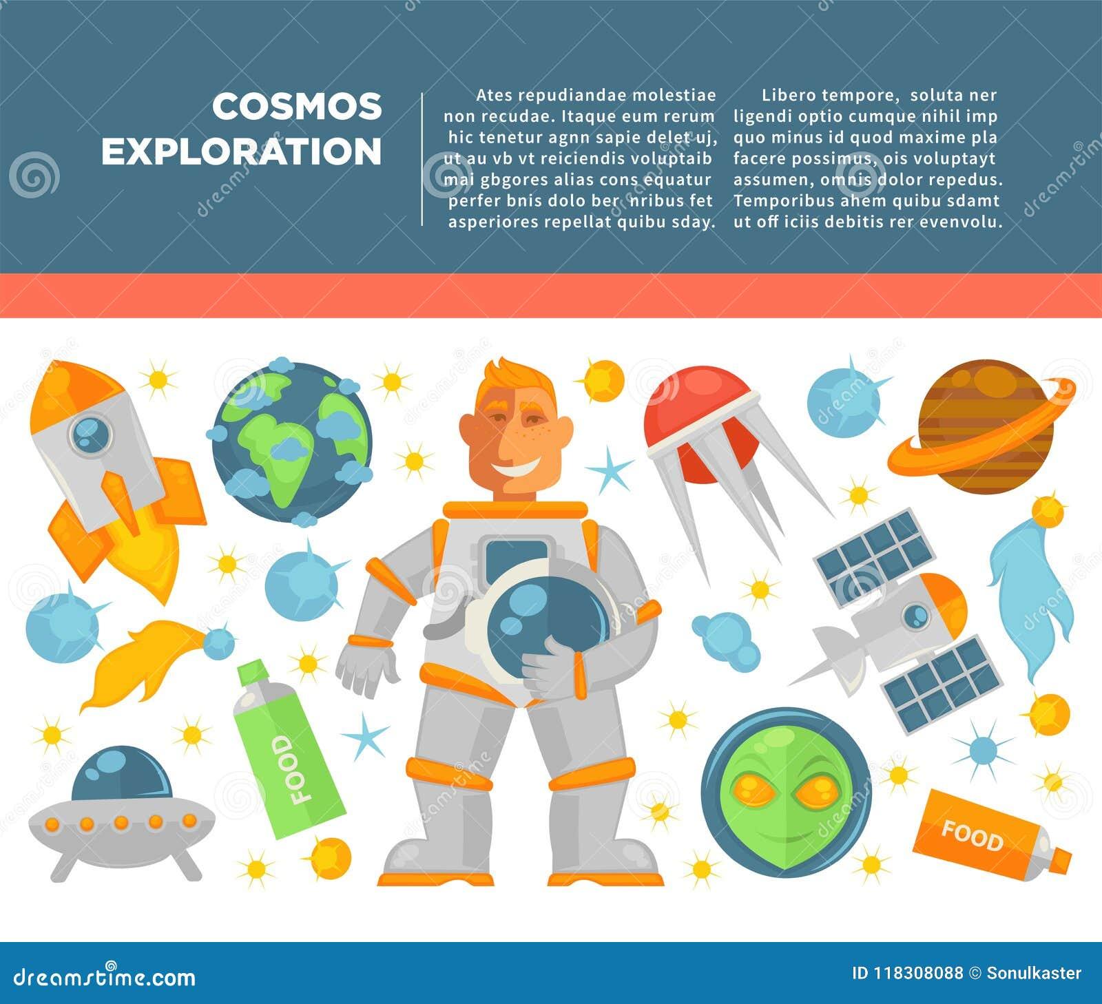 Affiche de vecteur d exploration d univers de cosmos